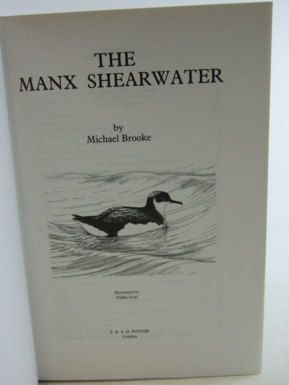 Photo of THE MANX SHEARWATER written by Haresnape, Brian illustrated by Scott, Dafila published by T. & A.D. Poyser (STOCK CODE: 1806356)  for sale by Stella & Rose's Books