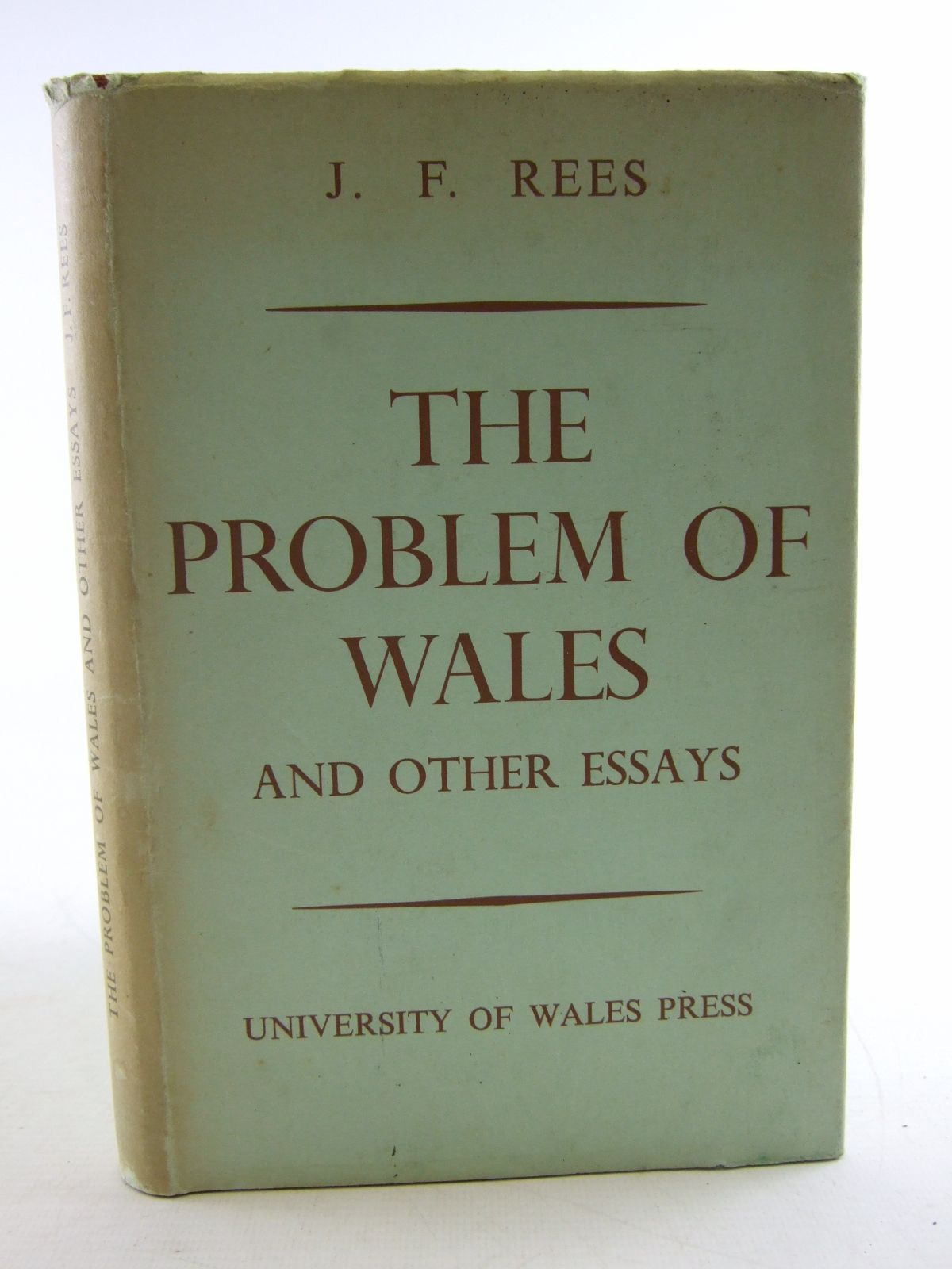 Photo of THE PROBLEM OF WALES AND OTHER ESSAYS written by Rees, J.F. published by University of Wales (STOCK CODE: 1806712)  for sale by Stella & Rose's Books