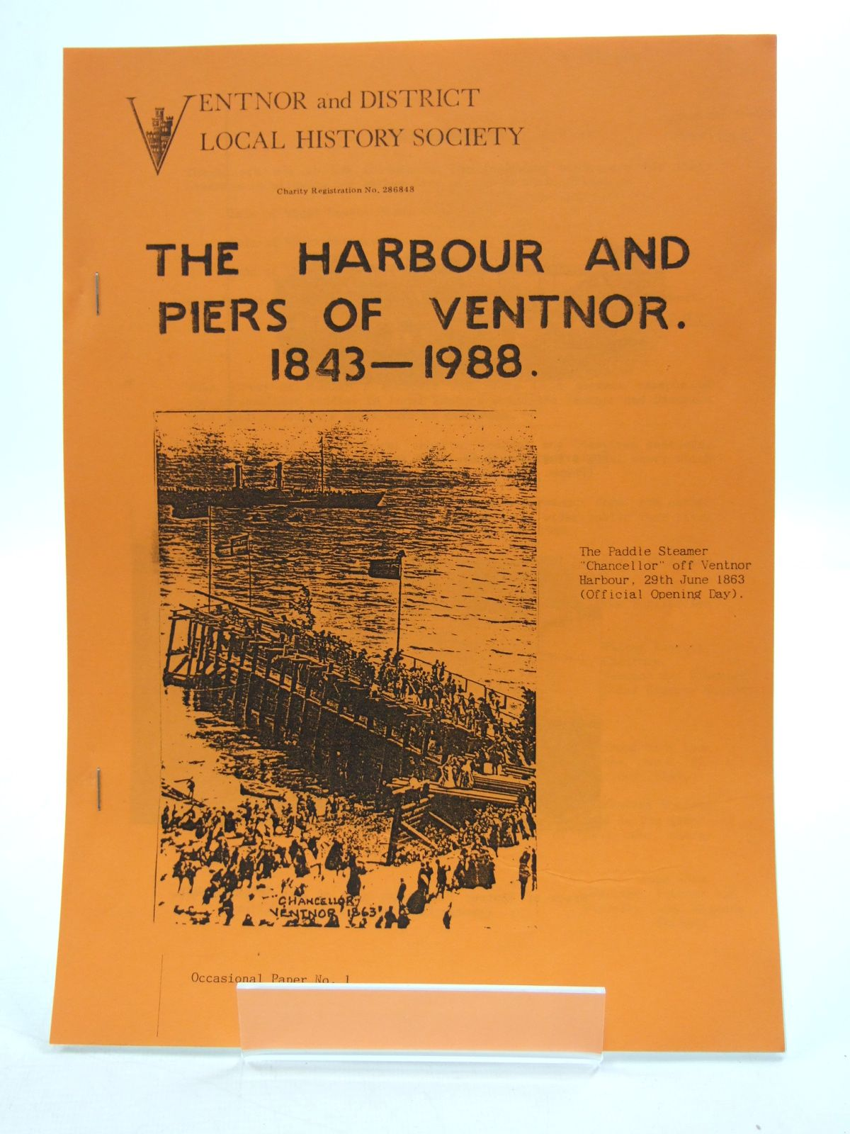 Photo of THE HARBOUR AND PIERS OF VENTNOR 1843-1988 written by Payne, E.D.G. published by Ventnor And District Local History Society (STOCK CODE: 1807156)  for sale by Stella & Rose's Books