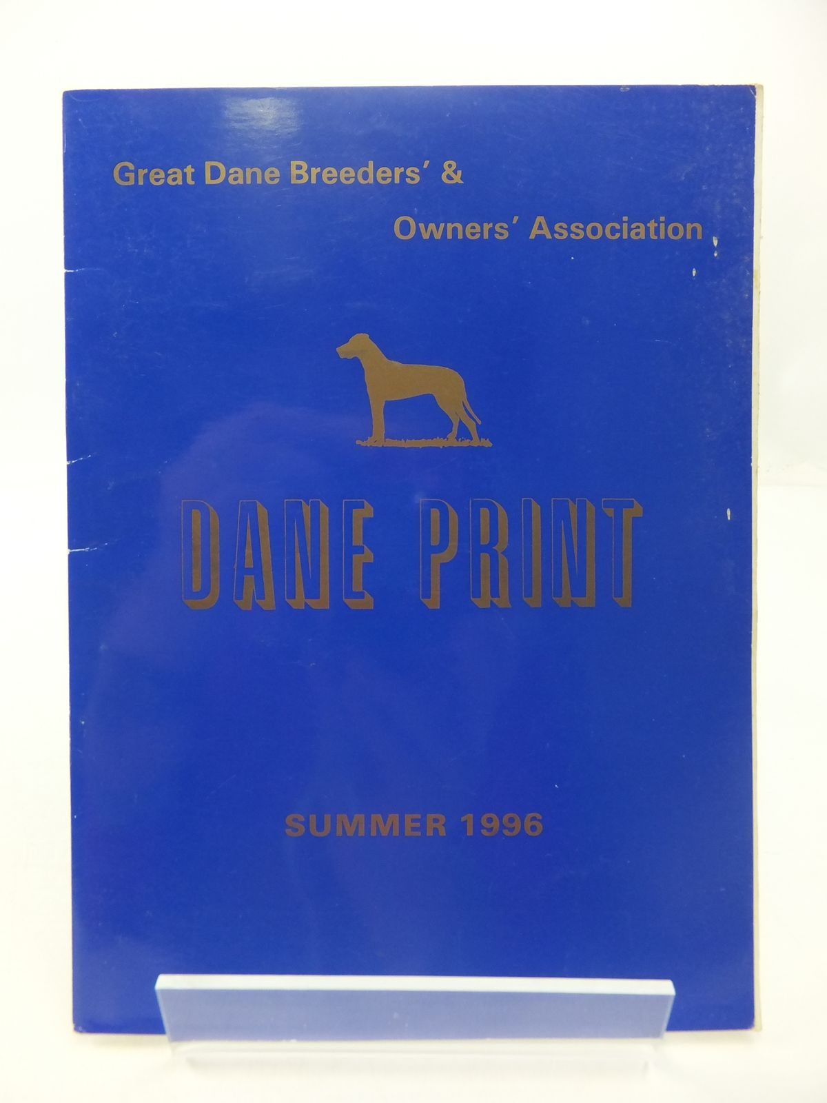 Photo of DANE PRINT: GREAT DANE BREEDERS' & OWNERS' ASSOCIATION SUMMER 1996 written by King, Janis (STOCK CODE: 1807649)  for sale by Stella & Rose's Books