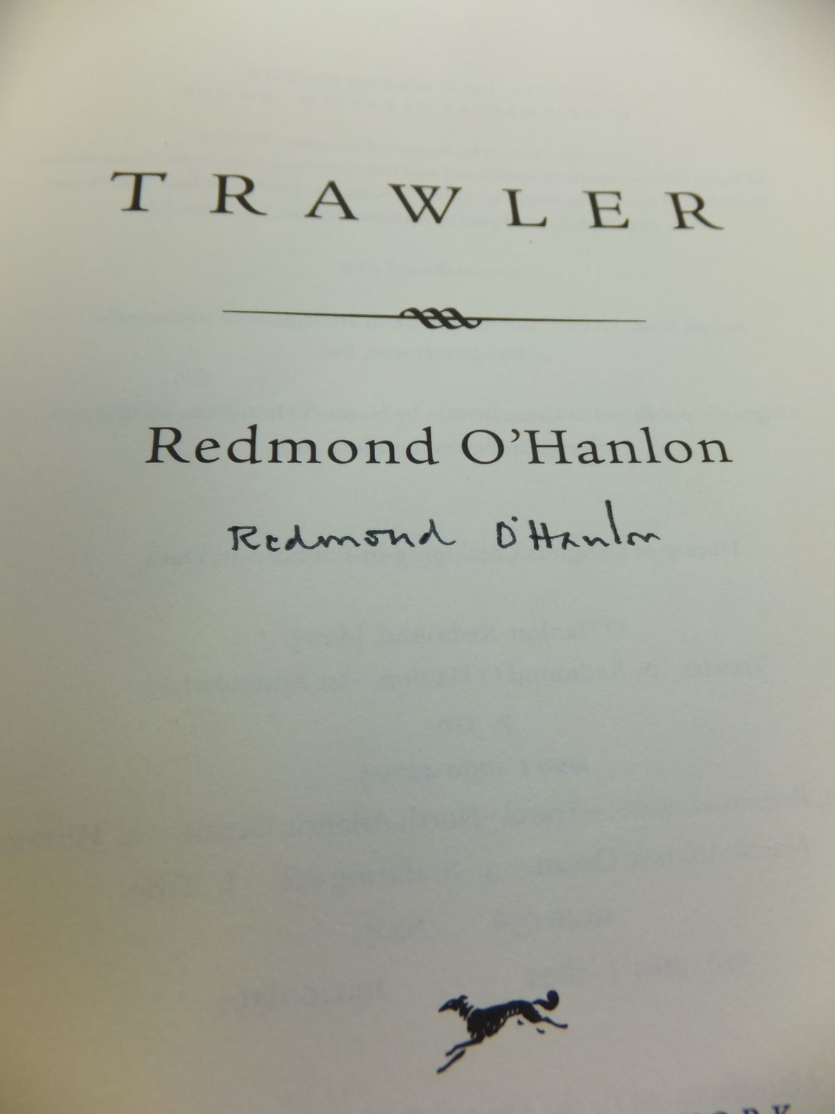 Photo of TRAWLER written by O'Hanlon, Redmond published by Alfred A. Knopf (STOCK CODE: 1808236)  for sale by Stella & Rose's Books