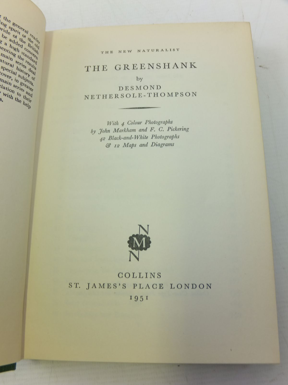 Photo of THE GREENSHANK (NMN 5) written by Nethersole-Thompson, Desmond published by Collins (STOCK CODE: 1808720)  for sale by Stella & Rose's Books