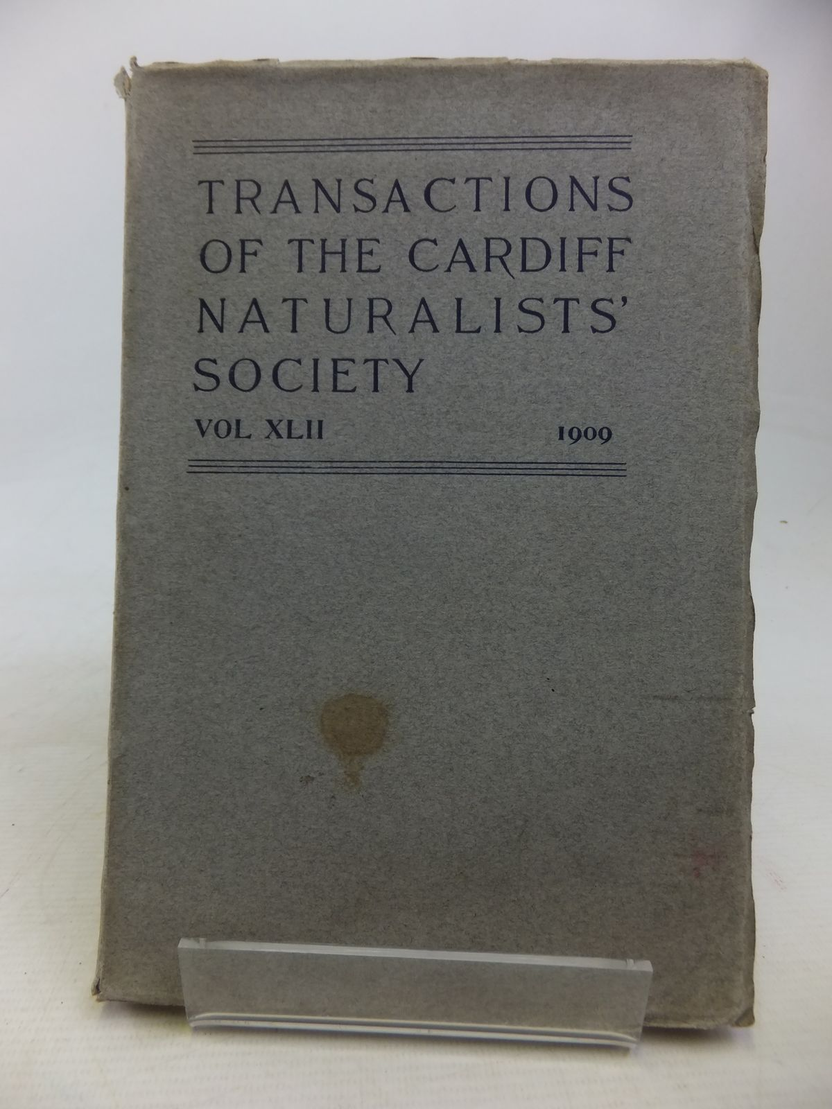 Photo of CARDIFF NATURALISTS' SOCIETY REPORT AND TRANSACTIONS VOL XLII 1909 published by The Cardiff Naturalists Society (STOCK CODE: 1809837)  for sale by Stella & Rose's Books