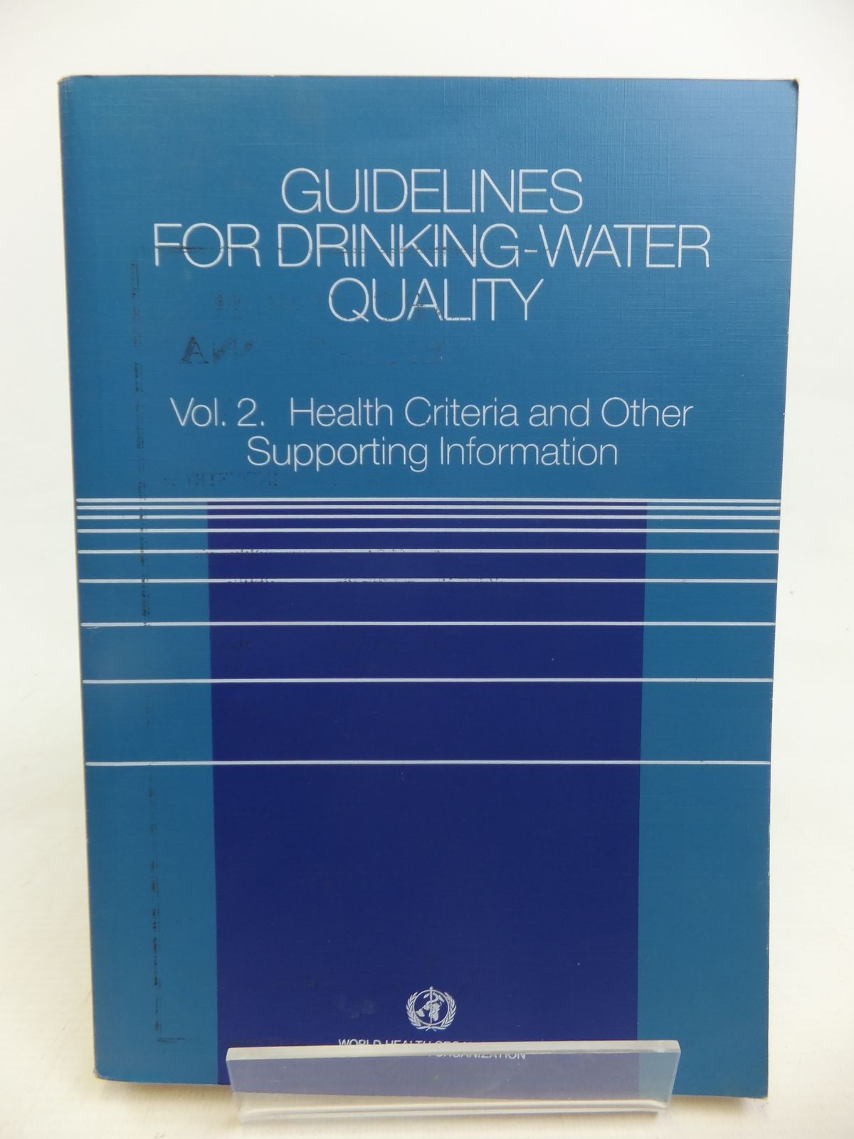 Photo of GUIDELINES FOR DRINKING-WATER QUALITY VOLUME 2- Stock Number: 1810900