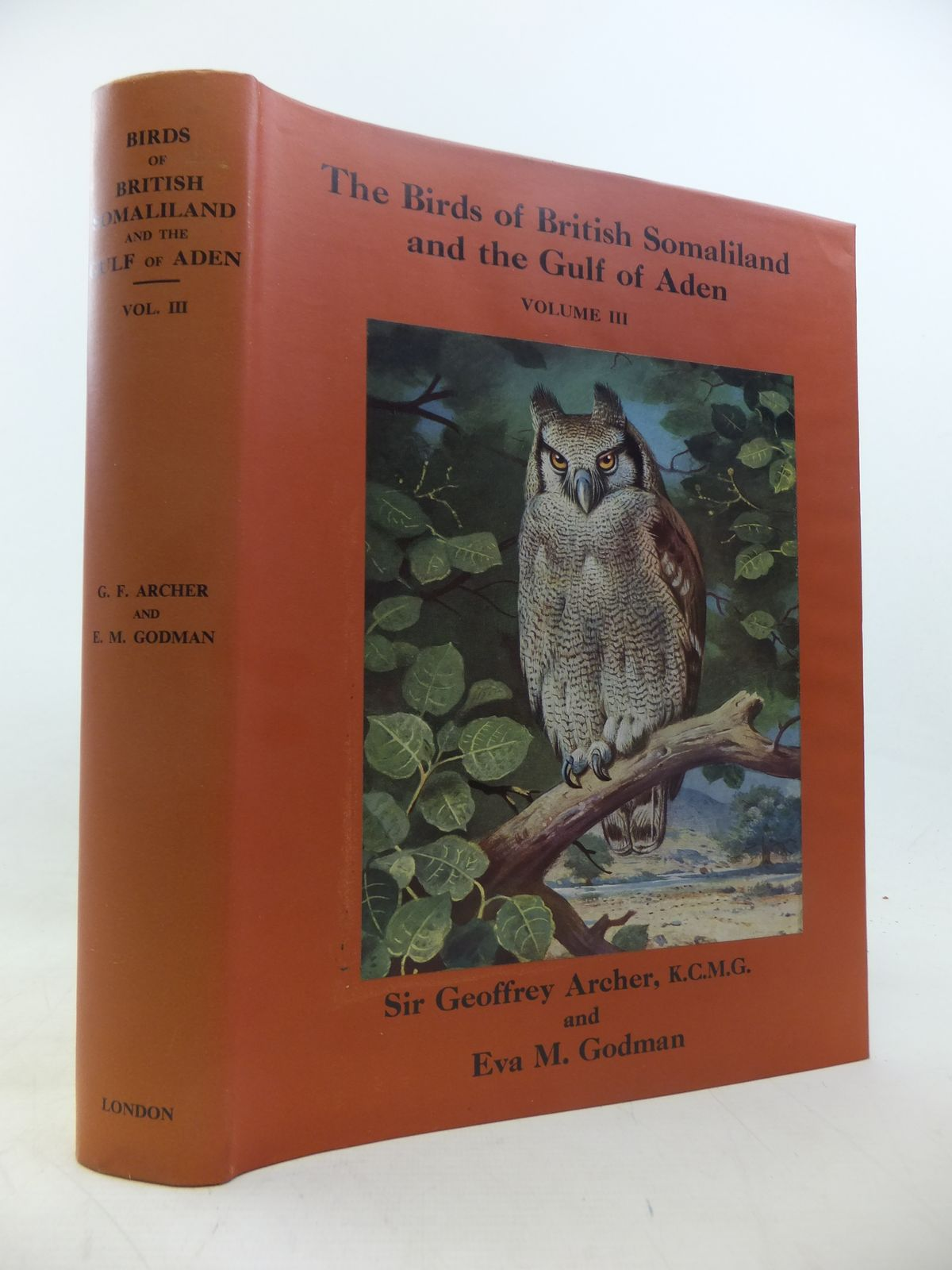 Photo of THE BIRDS OF BRITISH SOMALILAND AND THE GULF OF ADEN VOLUME III- Stock Number: 1811162