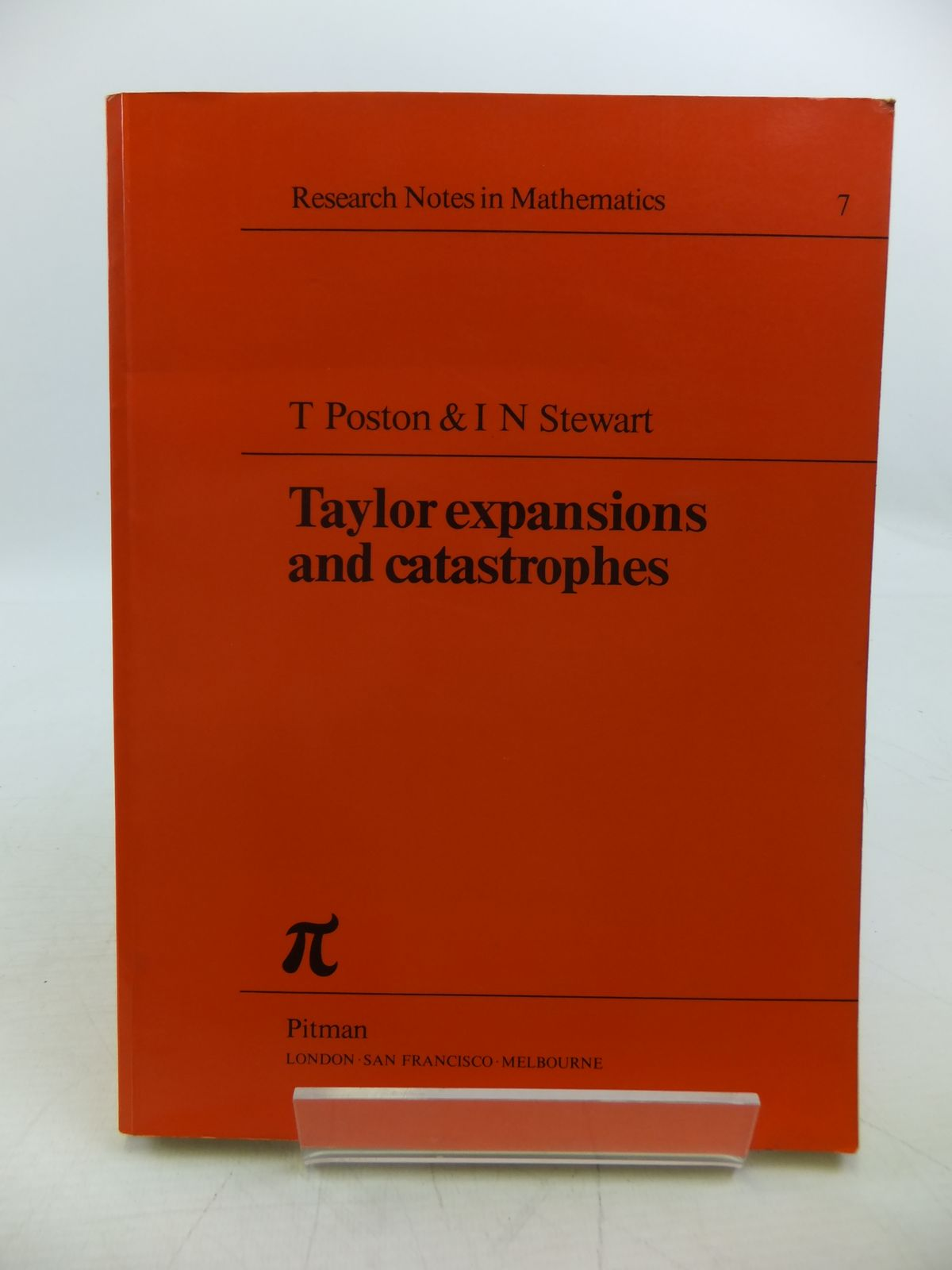 Photo of TAYLOR EXPANSIONS AND CATASTROPHES written by Poston, T. Stewart, I.N. published by Pitman Publishing (STOCK CODE: 1811461)  for sale by Stella & Rose's Books