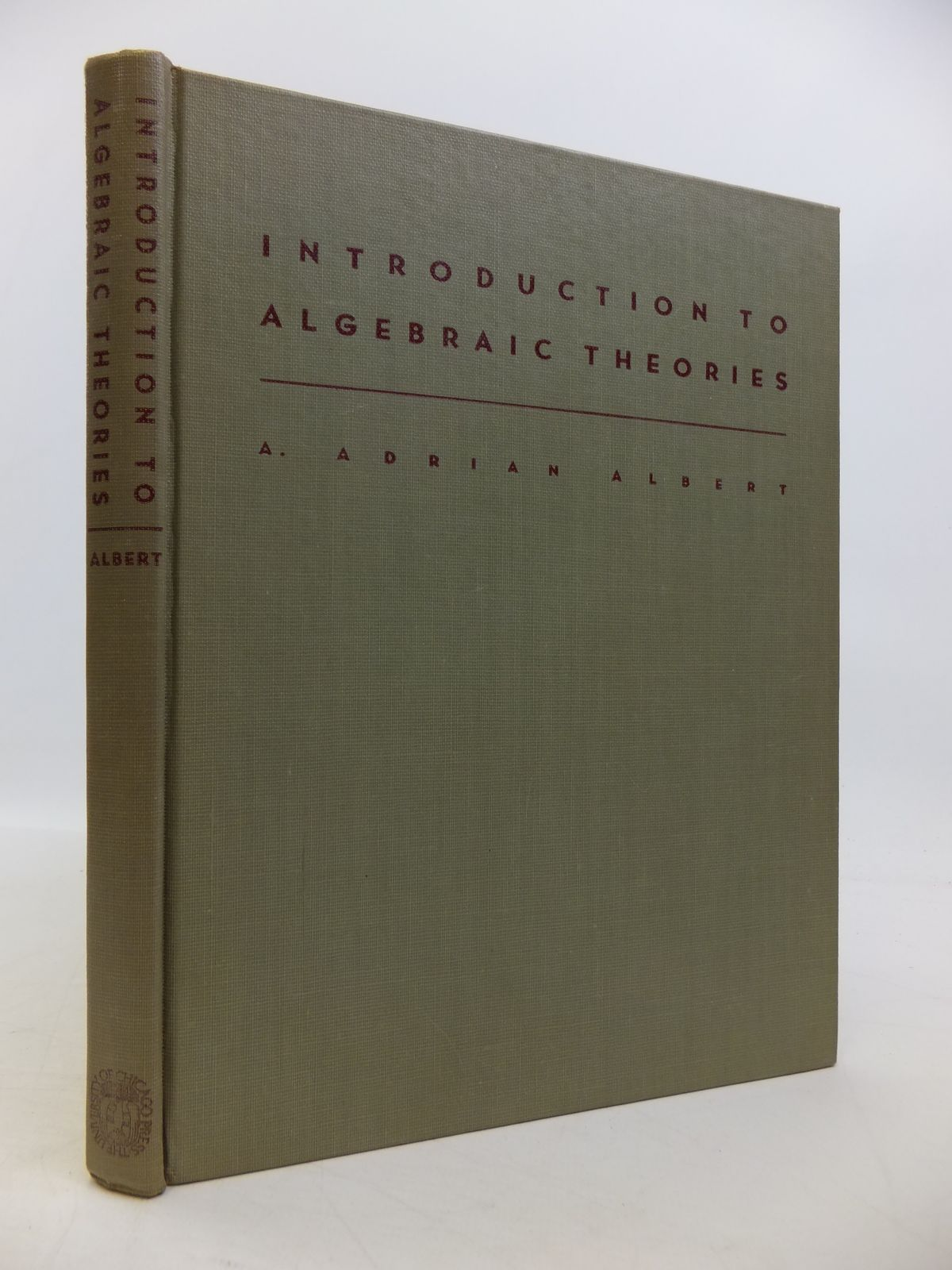 Photo of INTRODUCTION TO ALGEBRAIC THEORIES- Stock Number: 1811516