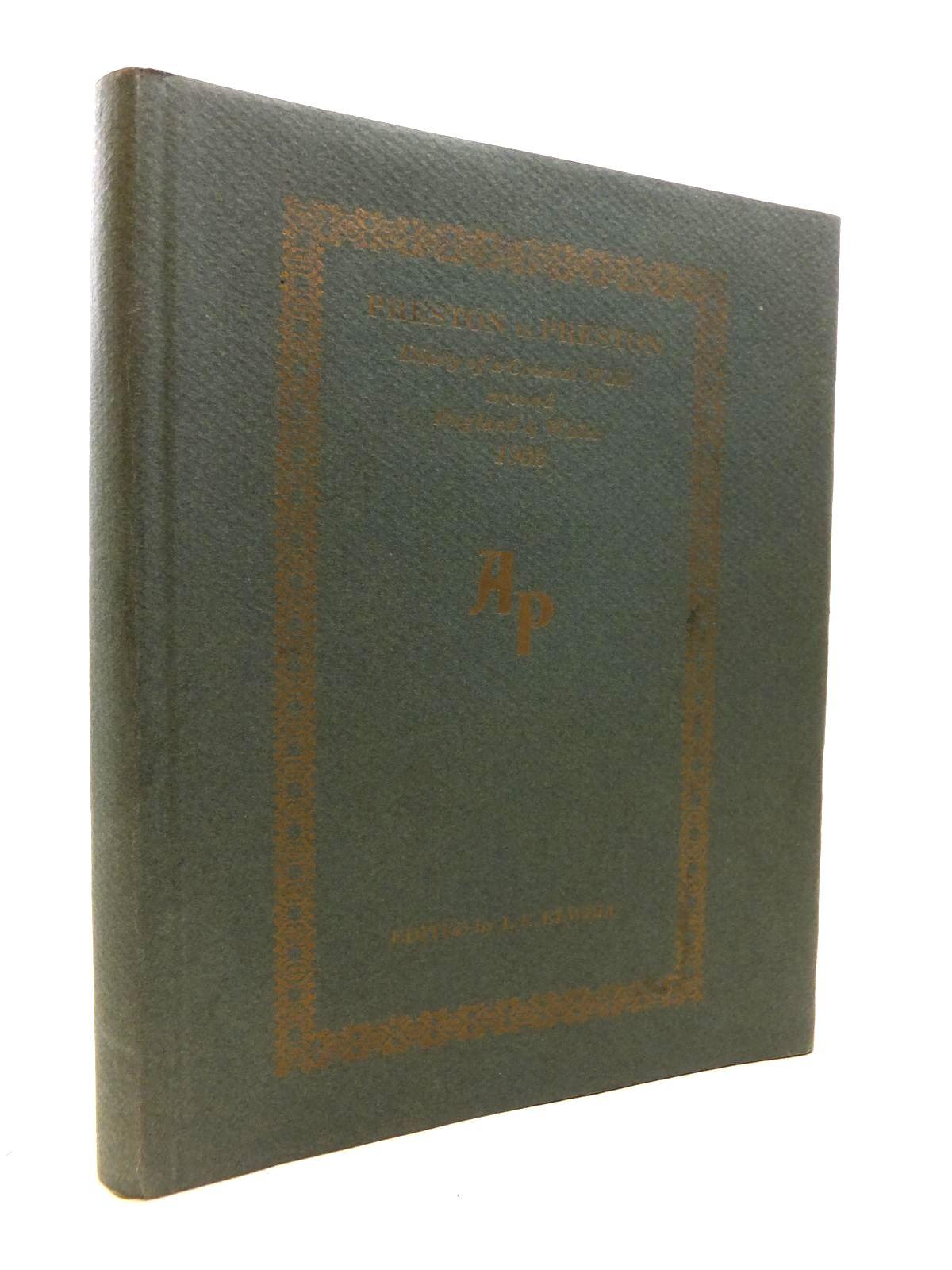 Photo of PRESTON TO PRESTON: DIARY OF A COASTAL WALK AROUND ENGLAND & WALES 1902- Stock Number: 1811922
