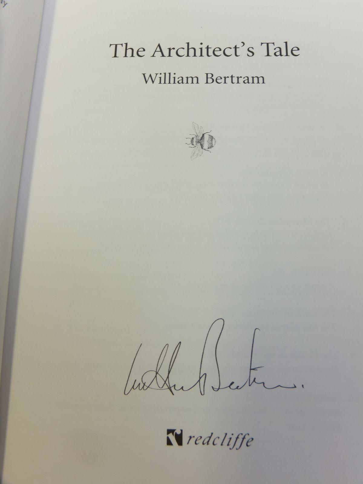 Photo of THE ARCHITECT'S TALE written by Bertram, William published by Redcliffe Press Ltd. (STOCK CODE: 1812191)  for sale by Stella & Rose's Books
