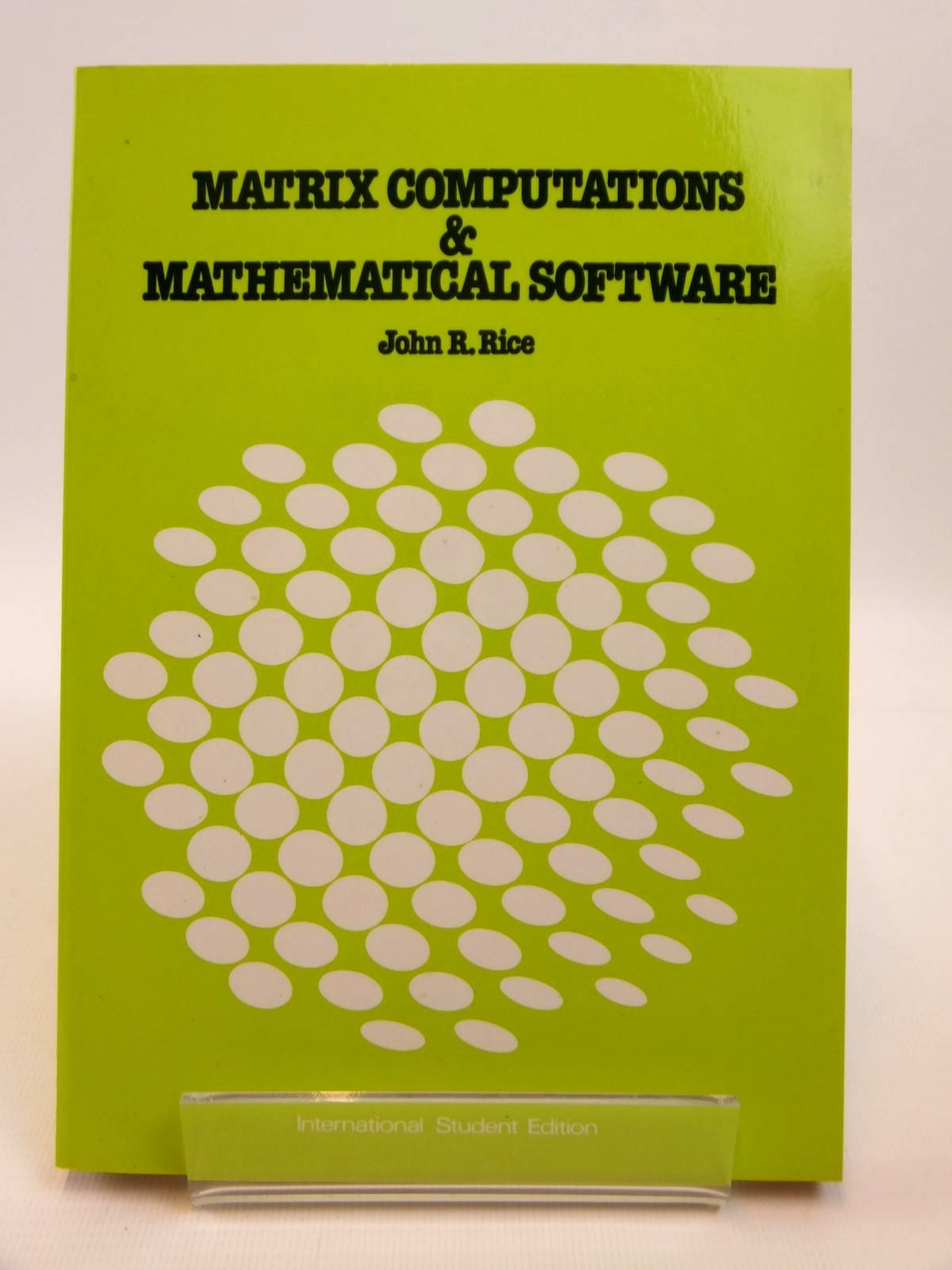 Photo of MATRIX COMPUTATIONS AND MATHEMATICAL SOFTWARE- Stock Number: 1812484