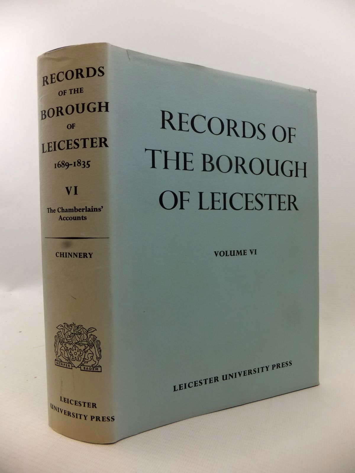 Photo of RECORDS OF THE BOROUGH OF LEICESTER VOL VI- Stock Number: 1813066