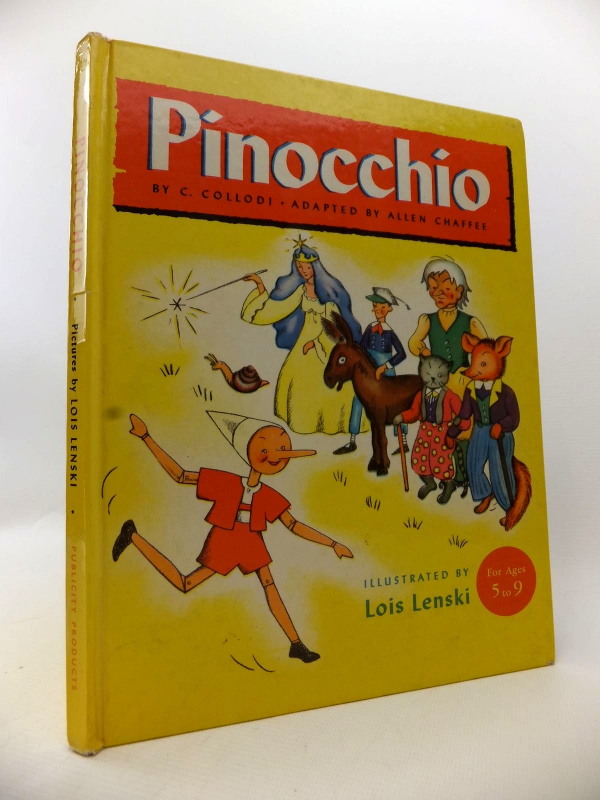 Photo of PINOCCHIO written by Collodi, Carlo Chaffee, Allen illustrated by Lenski, Lois published by Publicity Products Limited (STOCK CODE: 1813605)  for sale by Stella & Rose's Books