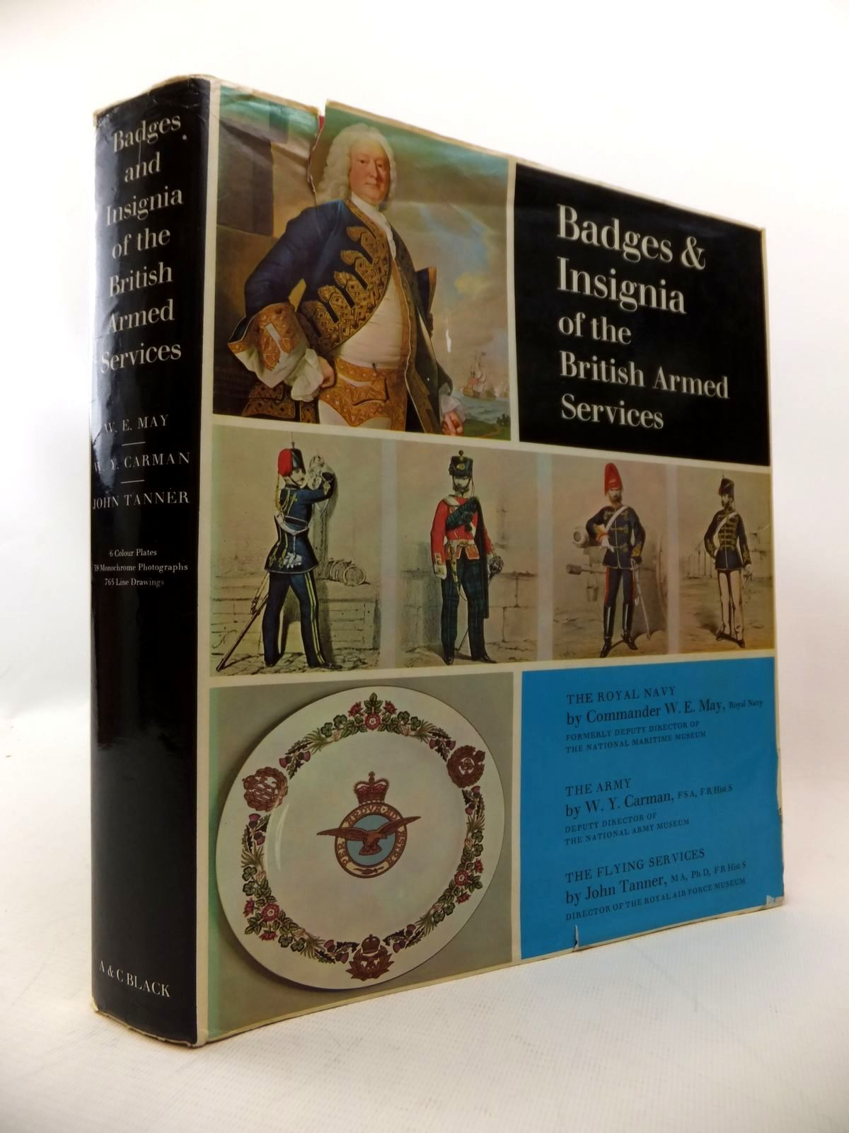 Photo of BADGES AND INSIGNIA OF THE BRITISH ARMED SERVICES written by May, W.E.<br />Carman, William Y.<br />Tanner, John published by Adam &amp; Charles Black (STOCK CODE: 1814029)  for sale by Stella & Rose's Books
