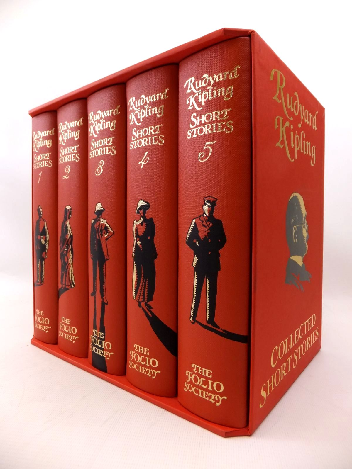 Photo of RUDYARD KIPLING COLLECTED SHORT STORIES (5 VOLUMES) written by Kipling, Rudyard illustrated by Bannister, Philip published by Folio Society (STOCK CODE: 1814035)  for sale by Stella & Rose's Books