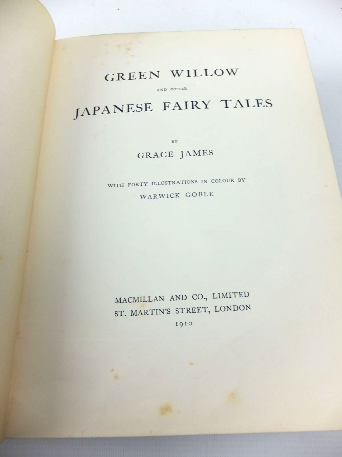 Photo of GREEN WILLOW AND OTHER JAPANESE FAIRY TALES written by James, Grace illustrated by Goble, Warwick published by Macmillan & Co. Ltd. (STOCK CODE: 1814696)  for sale by Stella & Rose's Books