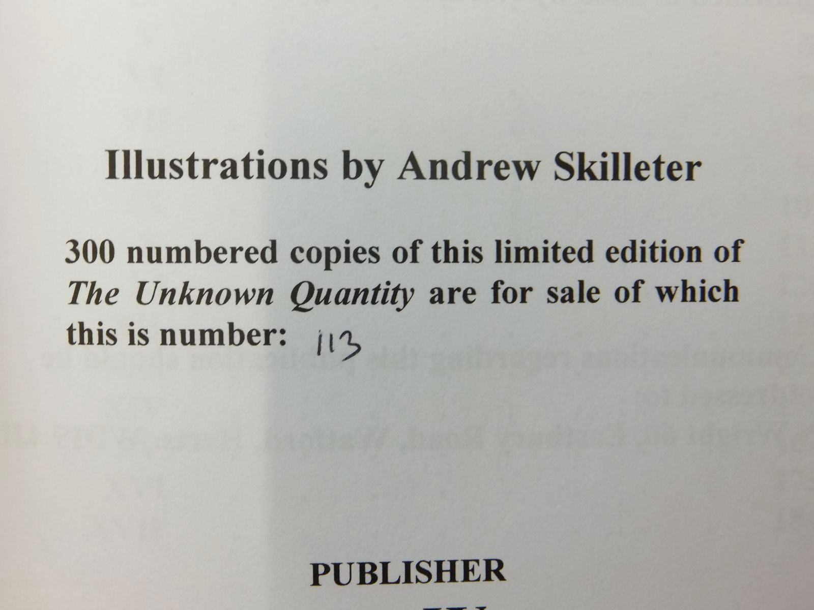 Photo of THE UNKNOWN QUANTITY written by Johns, W.E. illustrated by Skilleter, Andrew published by Norman Wright (STOCK CODE: 1814720)  for sale by Stella & Rose's Books
