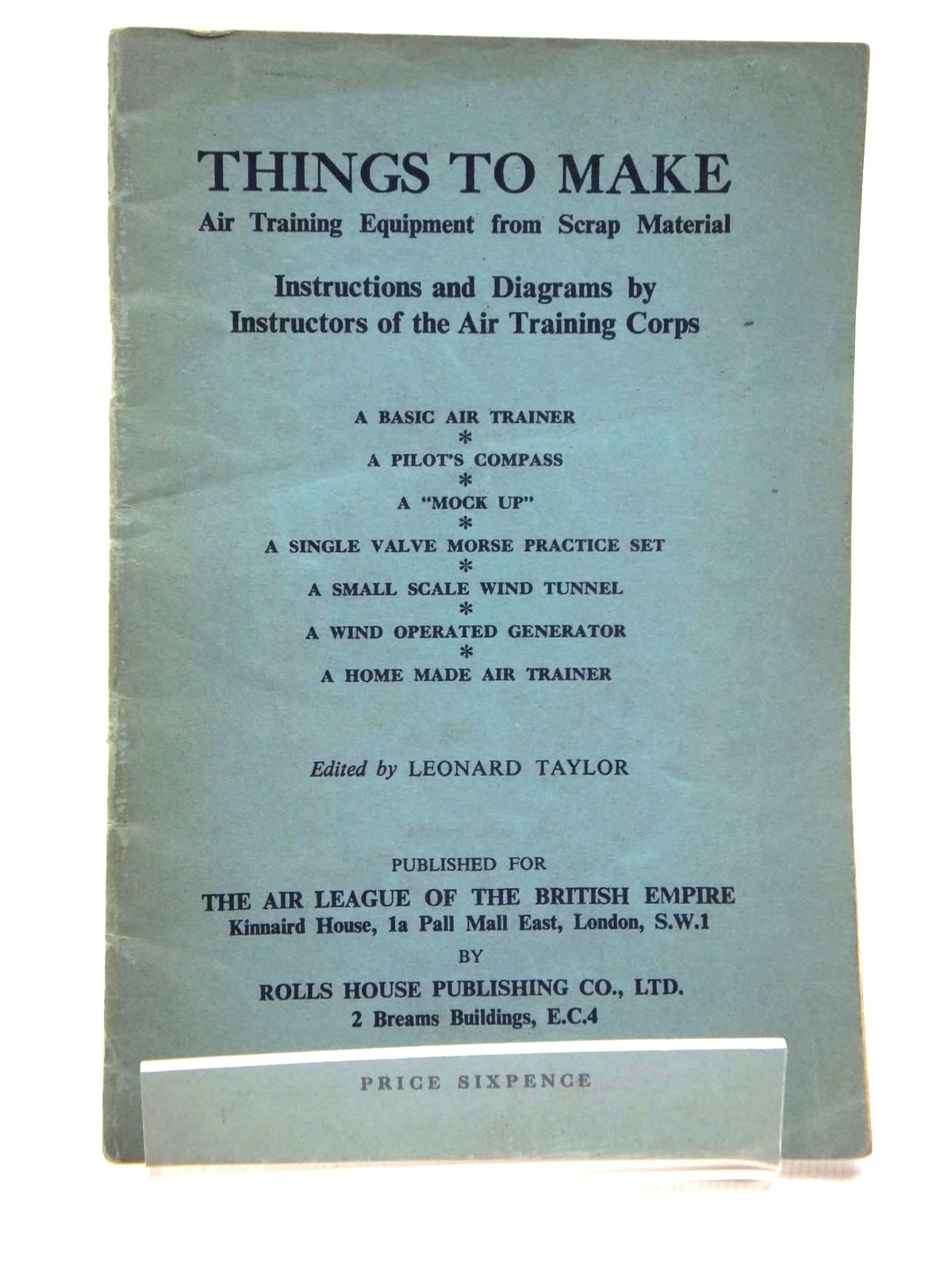 Photo of THINGS TO MAKE: AIR TRAINING EQUIPMENT FROM SCRAP METAL- Stock Number: 1814862