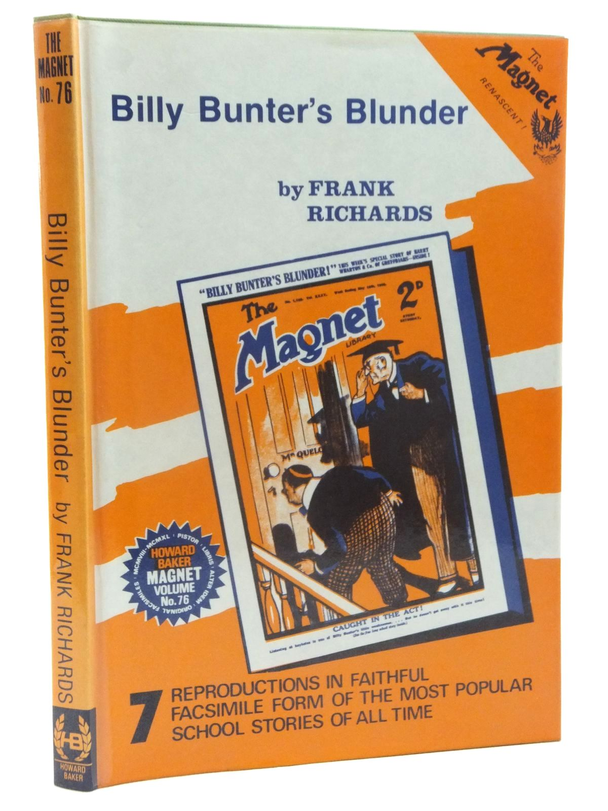 Photo of BILLY BUNTER'S BLUNDER written by Richards, Frank published by Howard Baker (STOCK CODE: 1815312)  for sale by Stella & Rose's Books