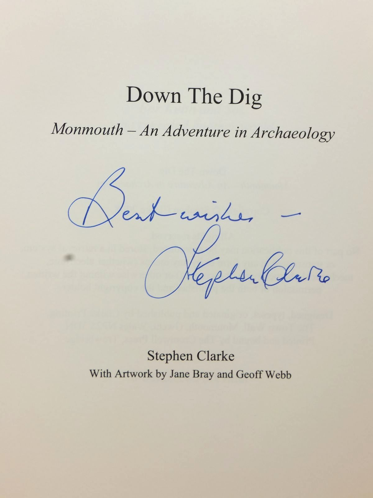 Photo of DOWN THE DIG written by Clarke, Stephen published by Monmouth Archaeological Society (STOCK CODE: 1815476)  for sale by Stella & Rose's Books