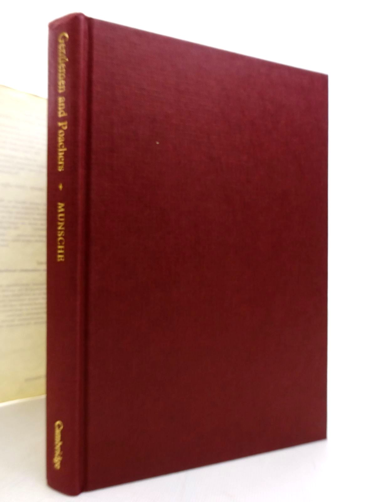 Photo of GENTLEMEN AND POACHERS: THE ENGLISH GAME LAWS 1671-1831 written by Munsche, P.B. published by Cambridge University Press (STOCK CODE: 1815869)  for sale by Stella & Rose's Books