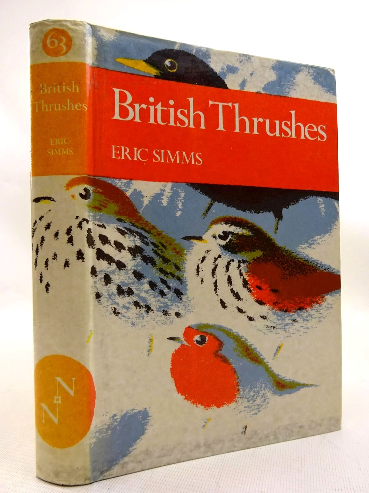 Photo of BRITISH THRUSHES (NN 63) written by Simms, Eric illustrated by Gillmor, Robert published by Collins (STOCK CODE: 1816300)  for sale by Stella & Rose's Books
