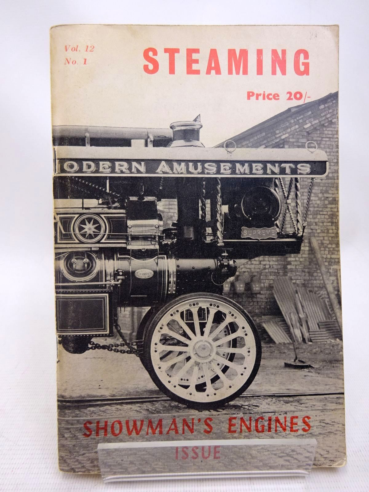 Photo of STEAMING VOL. 12 No. 1 published by The National Traction Engine Club Ltd. (STOCK CODE: 1816706)  for sale by Stella & Rose's Books