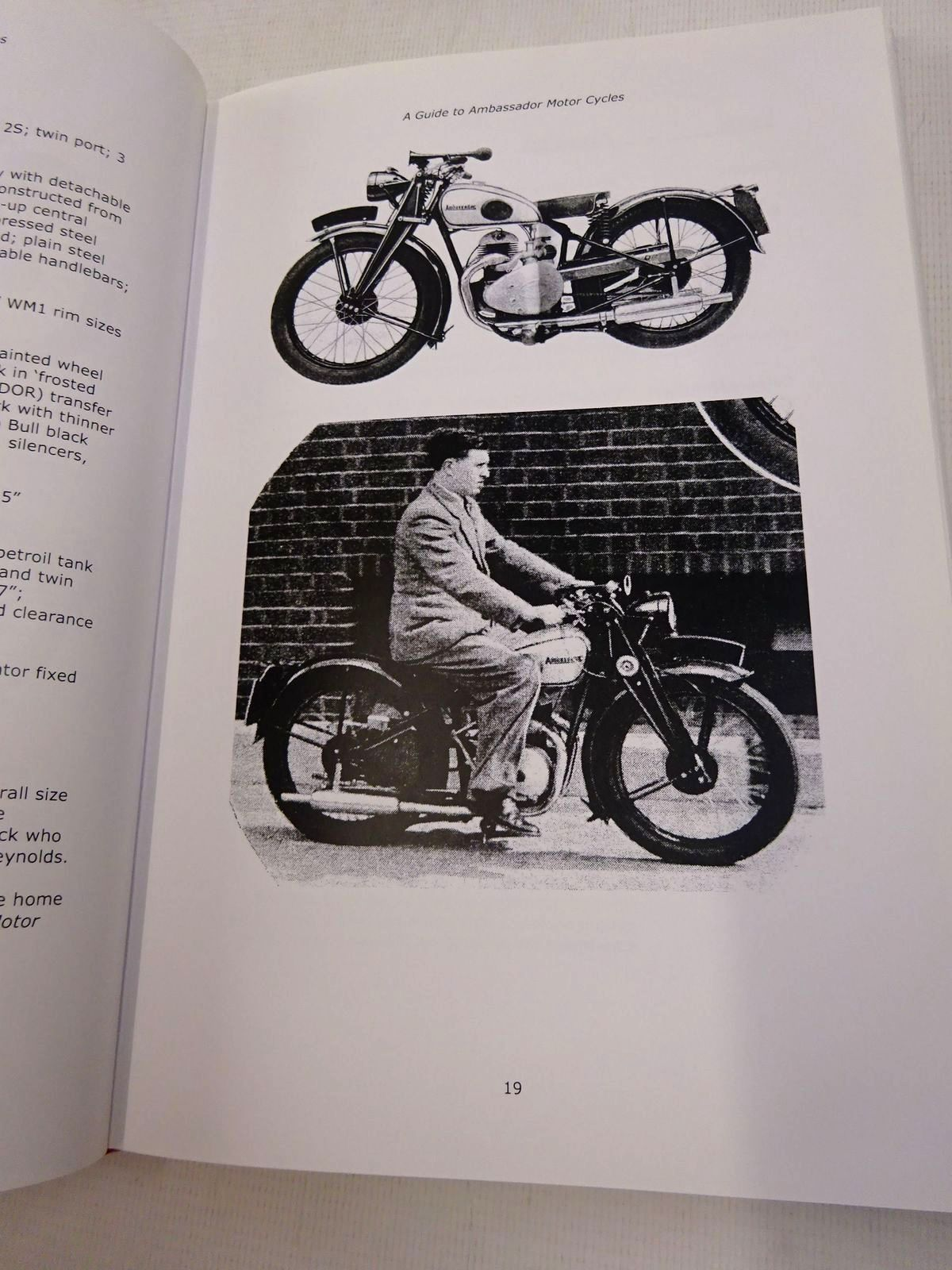 Photo of A GUIDE TO: AMBASSADOR MOTOR CYCLES written by Easton, Michael Hibbert, Fred published by Michael Easton & Fred Hibbert (STOCK CODE: 1816978)  for sale by Stella & Rose's Books