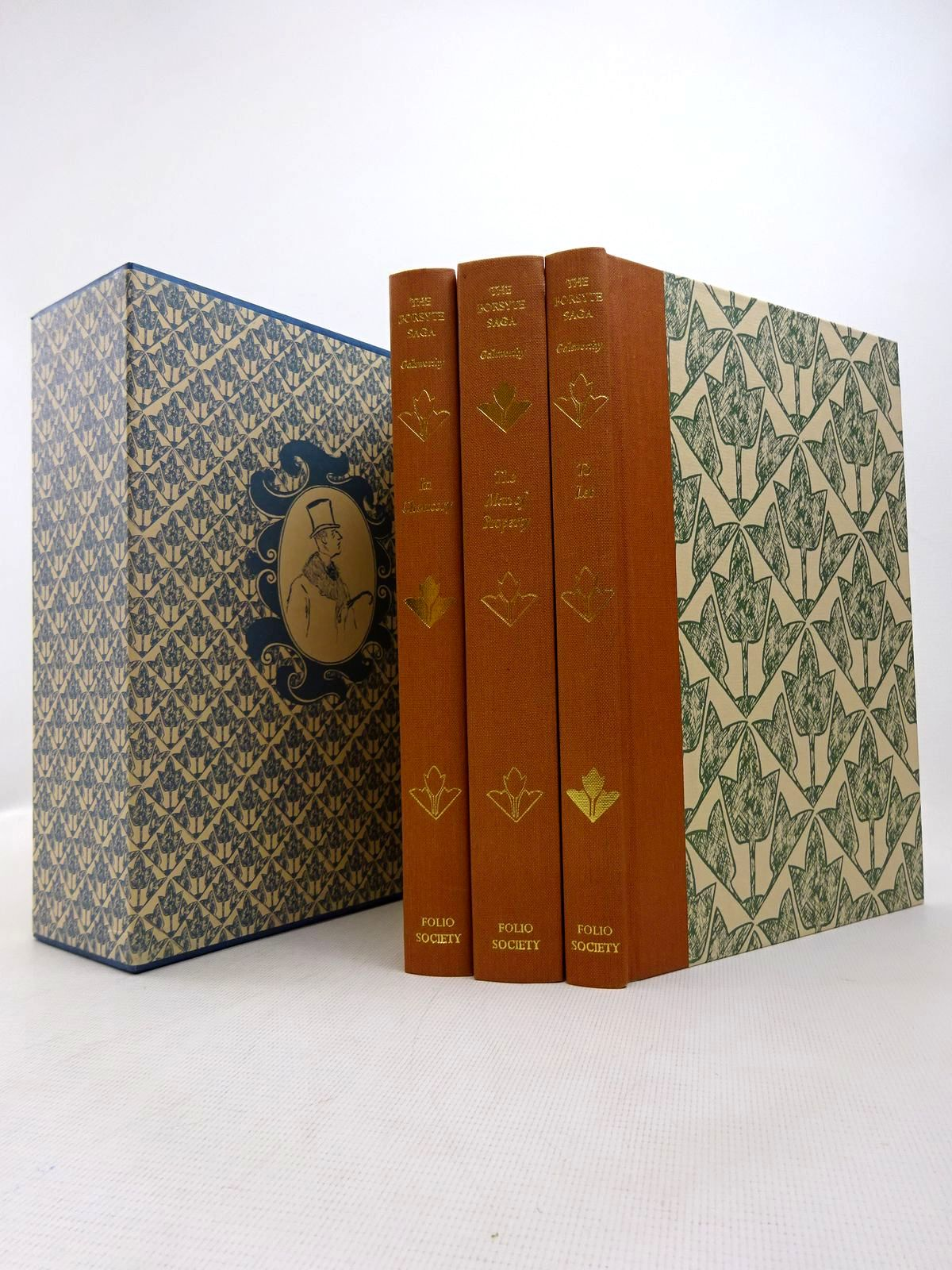 Photo of THE FORSYTE SAGA (3 VOLUMES) written by Galsworthy, John illustrated by Gross, Anthony published by Folio Society (STOCK CODE: 1816989)  for sale by Stella & Rose's Books