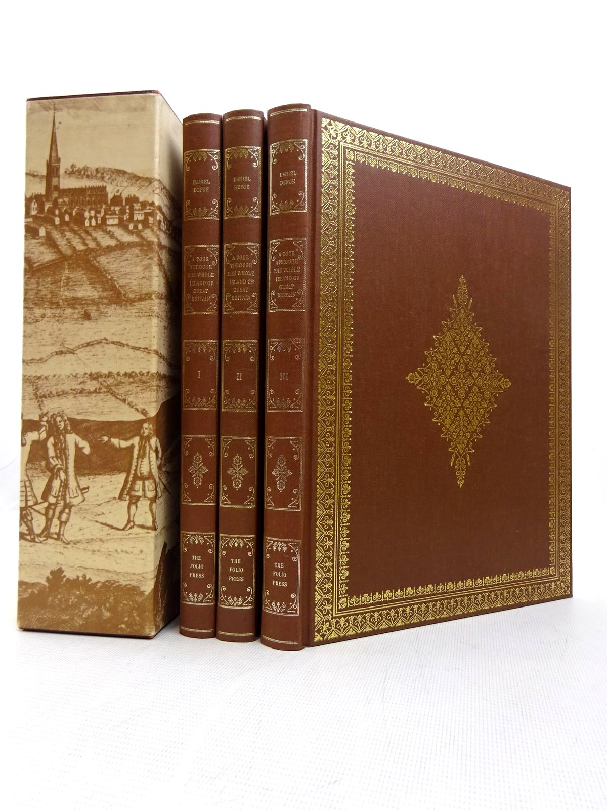 Photo of A TOUR THROUGH THE WHOLE ISLAND OF GREAT BRITAIN (3 VOLUMES) written by Defoe, Daniel Rogers, Pat published by Folio Society (STOCK CODE: 1816990)  for sale by Stella & Rose's Books