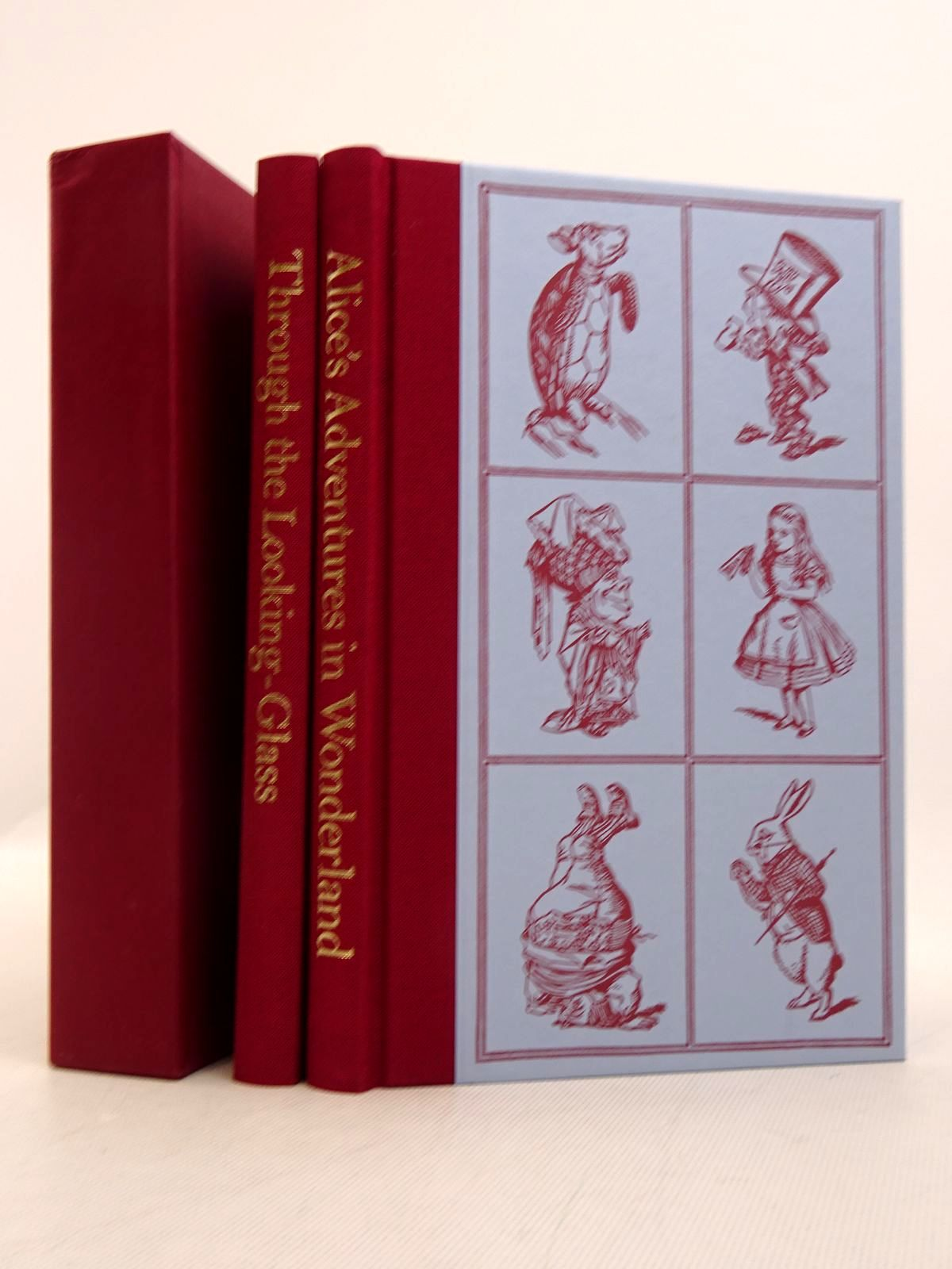 Photo of ALICE'S ADVENTURES IN WONDERLAND AND THROUGH THE LOOKING GLASS (TWO VOLUMES) written by Carroll, Lewis illustrated by Tenniel, John published by Folio Society (STOCK CODE: 1817172)  for sale by Stella & Rose's Books