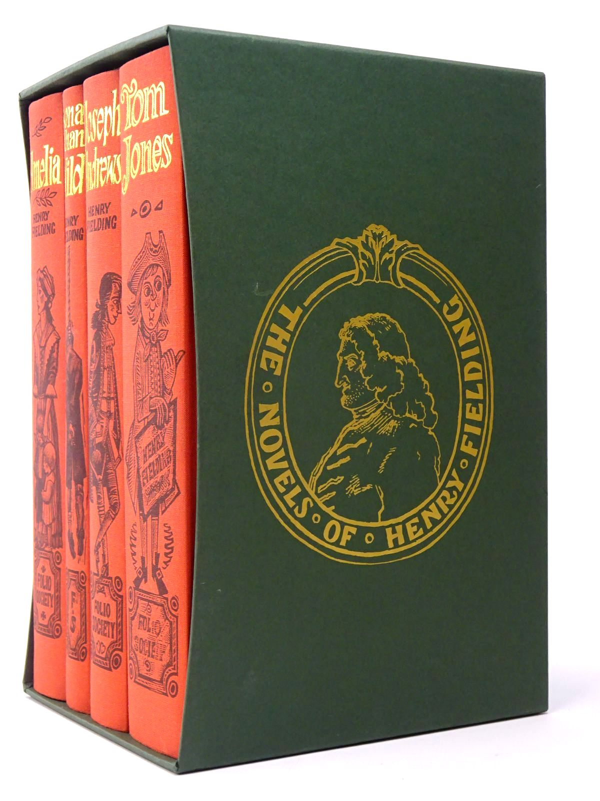 Photo of THE NOVELS OF HENRY FIELDING (4 VOLUMES) written by Fielding, Henry illustrated by Brett, Simon<br />Harris, Derrick<br />Martin, Frank published by Folio Society (STOCK CODE: 1817403)  for sale by Stella & Rose's Books