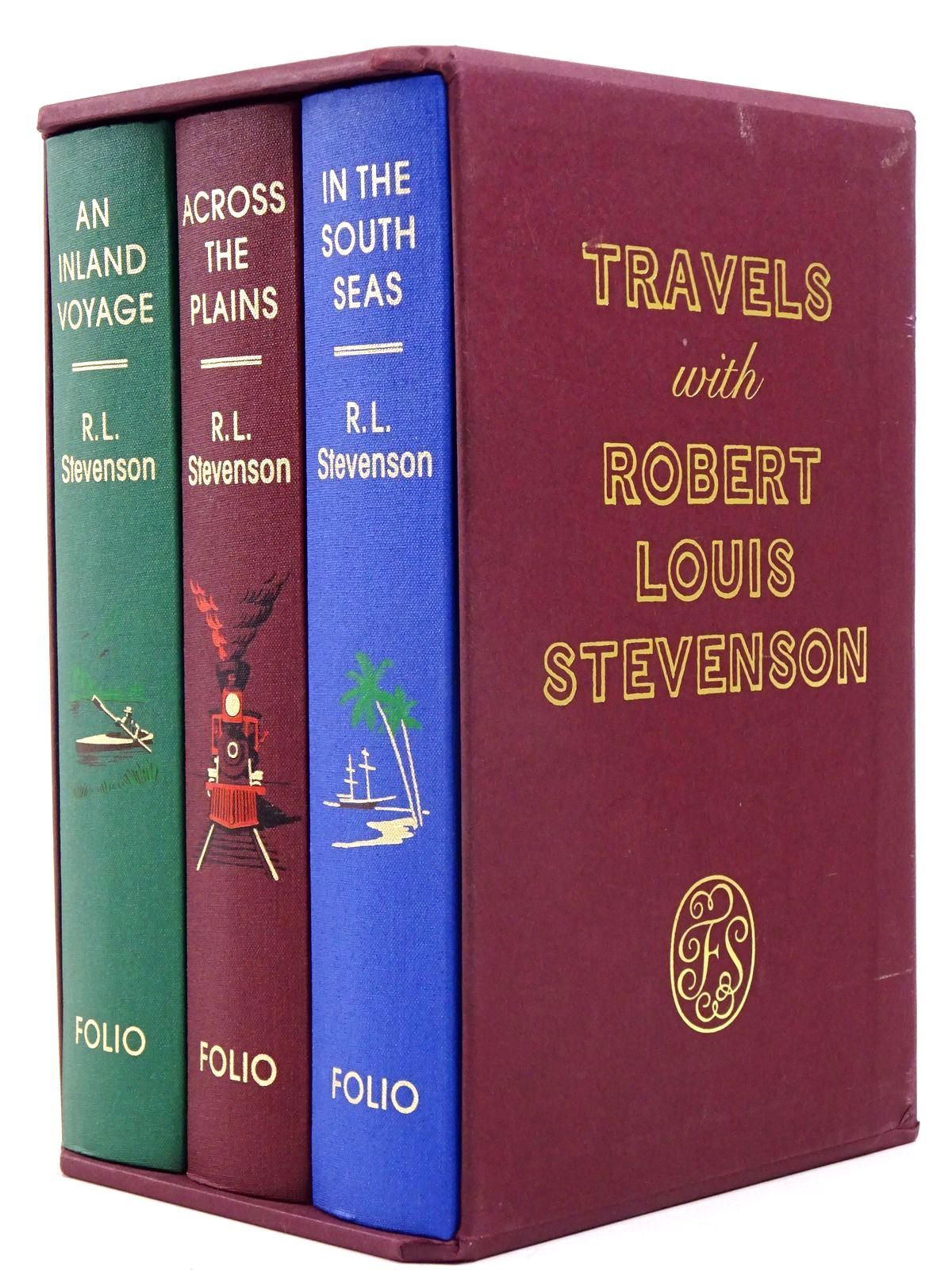 Photo of TRAVELS WITH ROBERT LOUIS STEVENSON (THREE VOLUMES) written by Stevenson, Robert Louis illustrated by Hardcastle, Nick published by Folio Society (STOCK CODE: 1817601)  for sale by Stella & Rose's Books