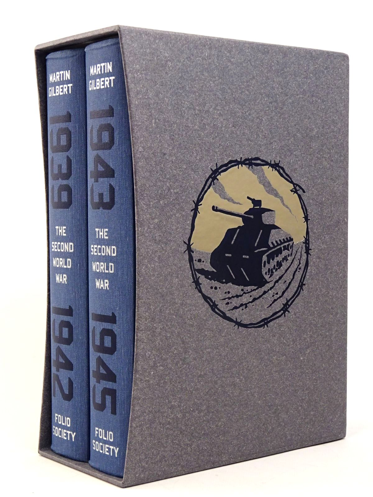 Photo of THE SECOND WORLD WAR (2 VOLUMES) written by Gilbert, Martin illustrated by McLaren, Joe published by Folio Society (STOCK CODE: 1817610)  for sale by Stella & Rose's Books
