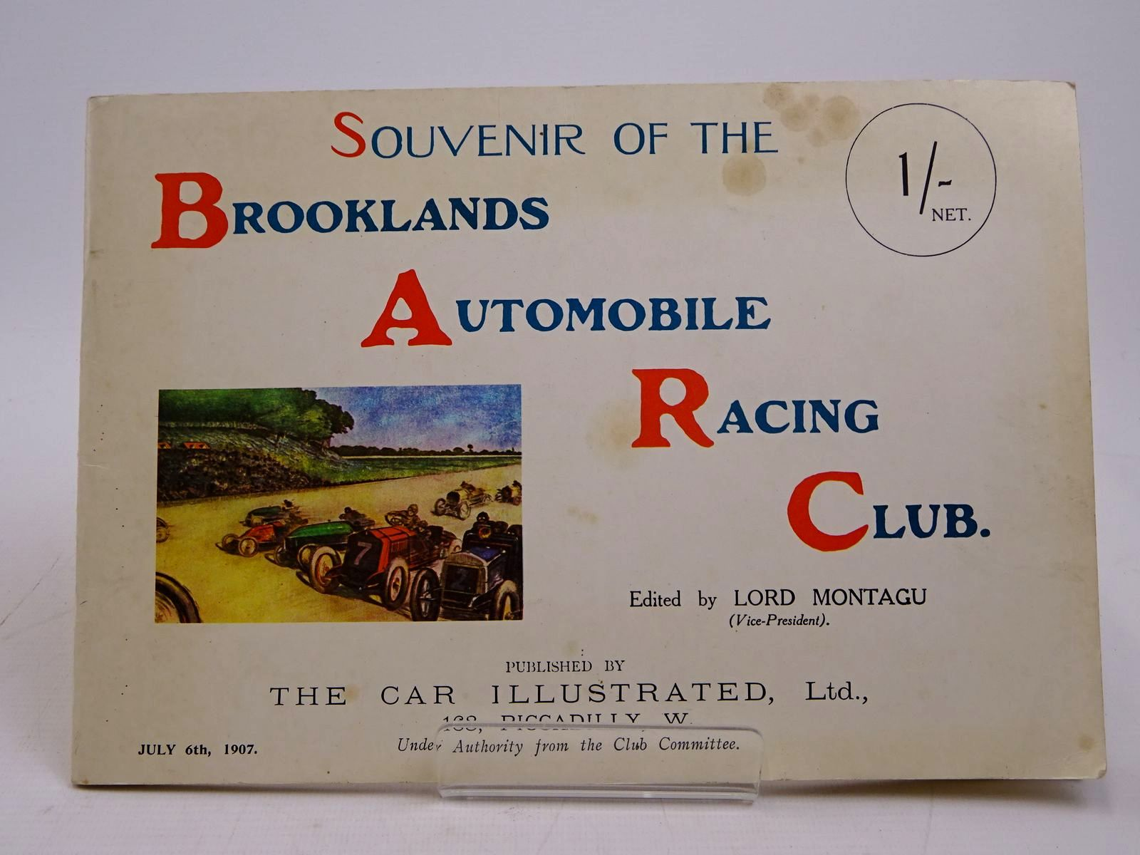 Photo of SOUVENIR OF THE BROOKLANDS AUTOMOBILE RACING CLUB written by Montagu, Lord published by The Brooklands Society (STOCK CODE: 1817973)  for sale by Stella & Rose's Books
