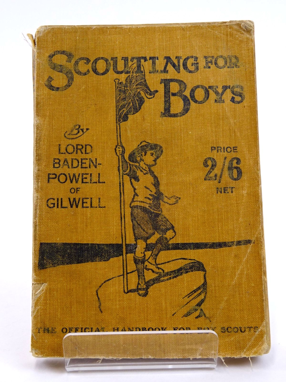 Photo of SCOUTING FOR BOYS: A HANDBOOK FOR INSTRUCTION IN GOOD CITIZENSHIP THROUGH WOODCRAFT- Stock Number: 1818171