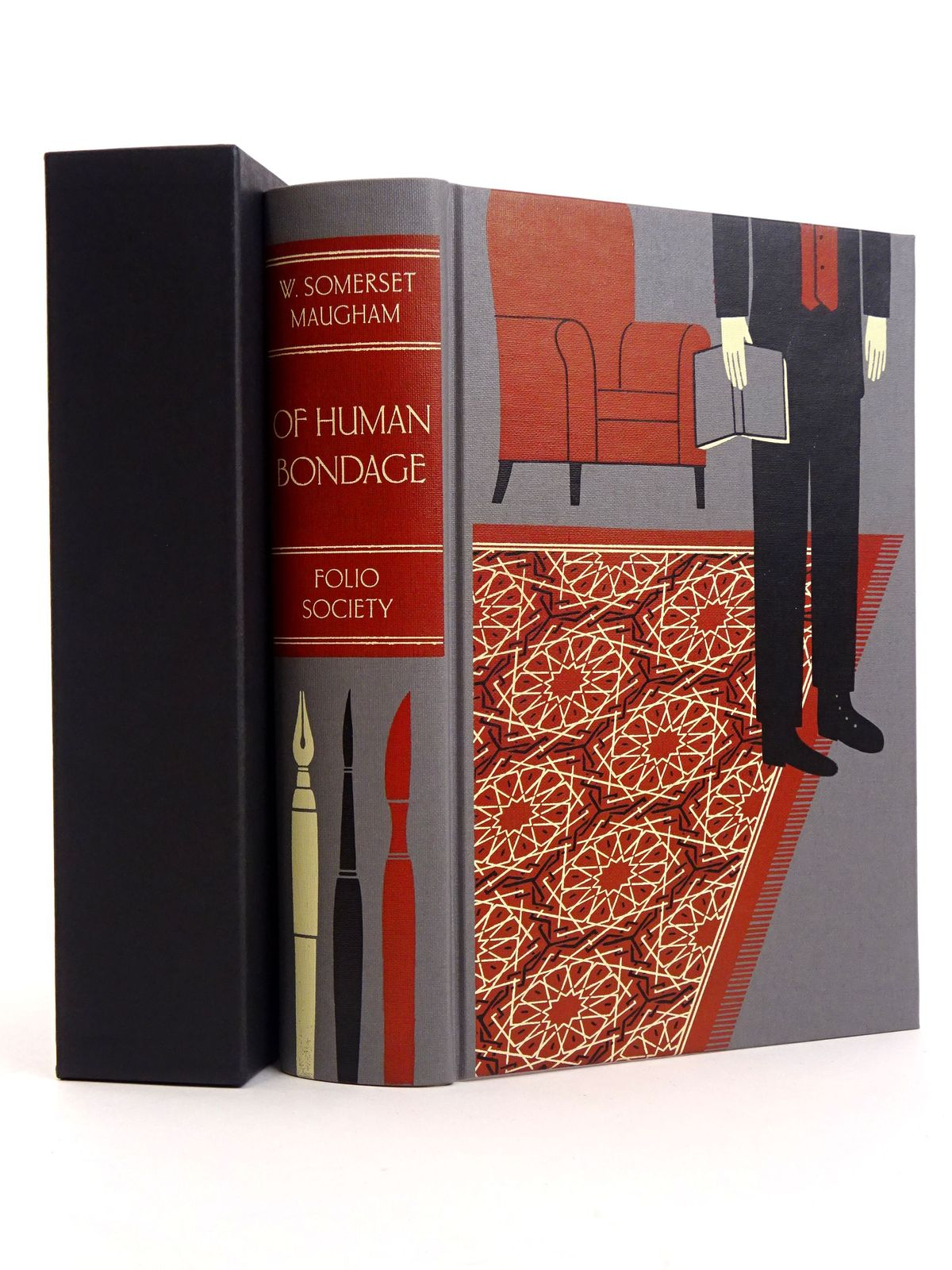 Photo of OF HUMAN BONDAGE written by Maugham, W. Somerset illustrated by Kirkham, Michael published by Folio Society (STOCK CODE: 1818191)  for sale by Stella & Rose's Books
