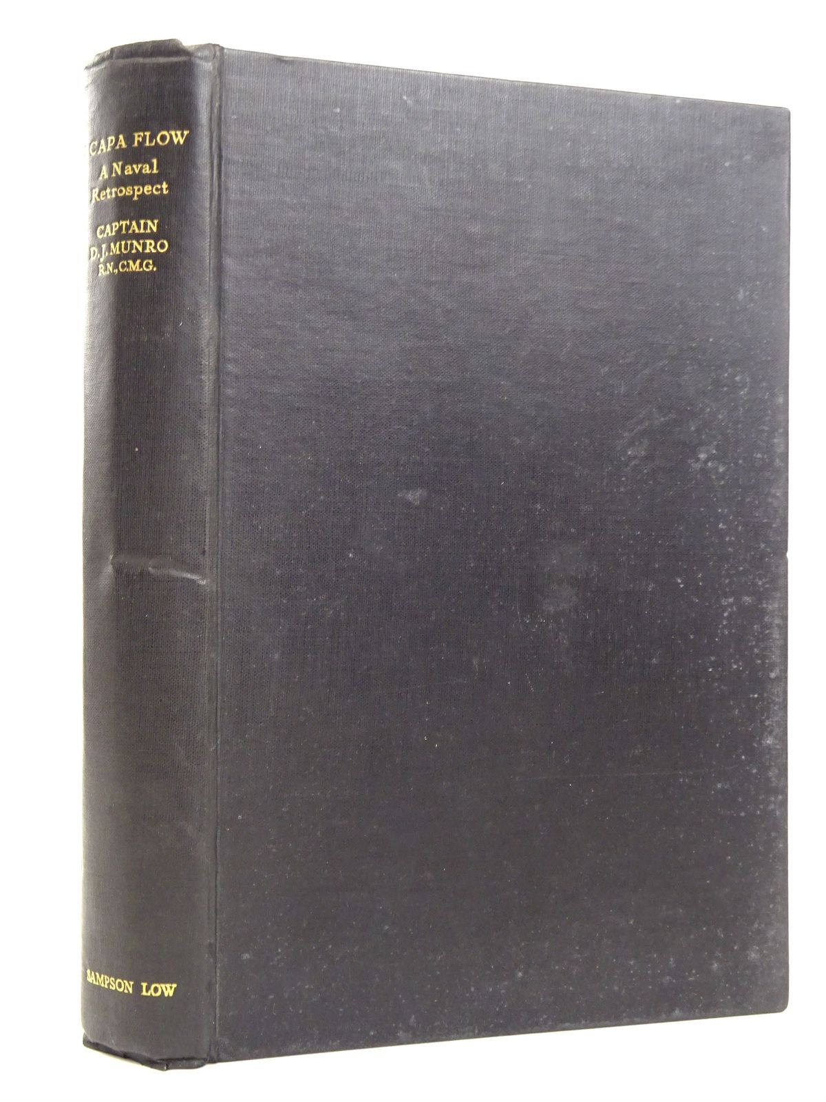 Photo of SCAPA FLOW: A NAVAL RETROSPECT written by Munro, Captain Donald J. published by Sampson Low, Marston & Co. Ltd. (STOCK CODE: 1818291)  for sale by Stella & Rose's Books