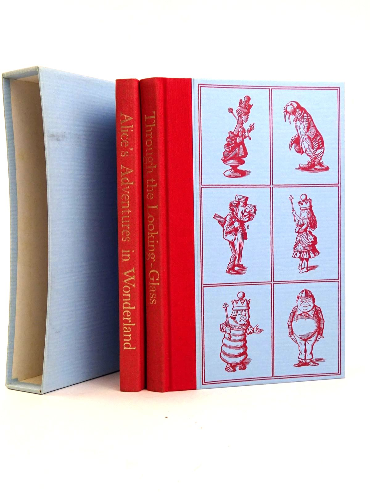 Photo of ALICE'S ADVENTURES IN WONDERLAND AND THROUGH THE LOOKING GLASS (TWO VOLUMES) written by Carroll, Lewis illustrated by Tenniel, John published by Folio Society (STOCK CODE: 1818301)  for sale by Stella & Rose's Books