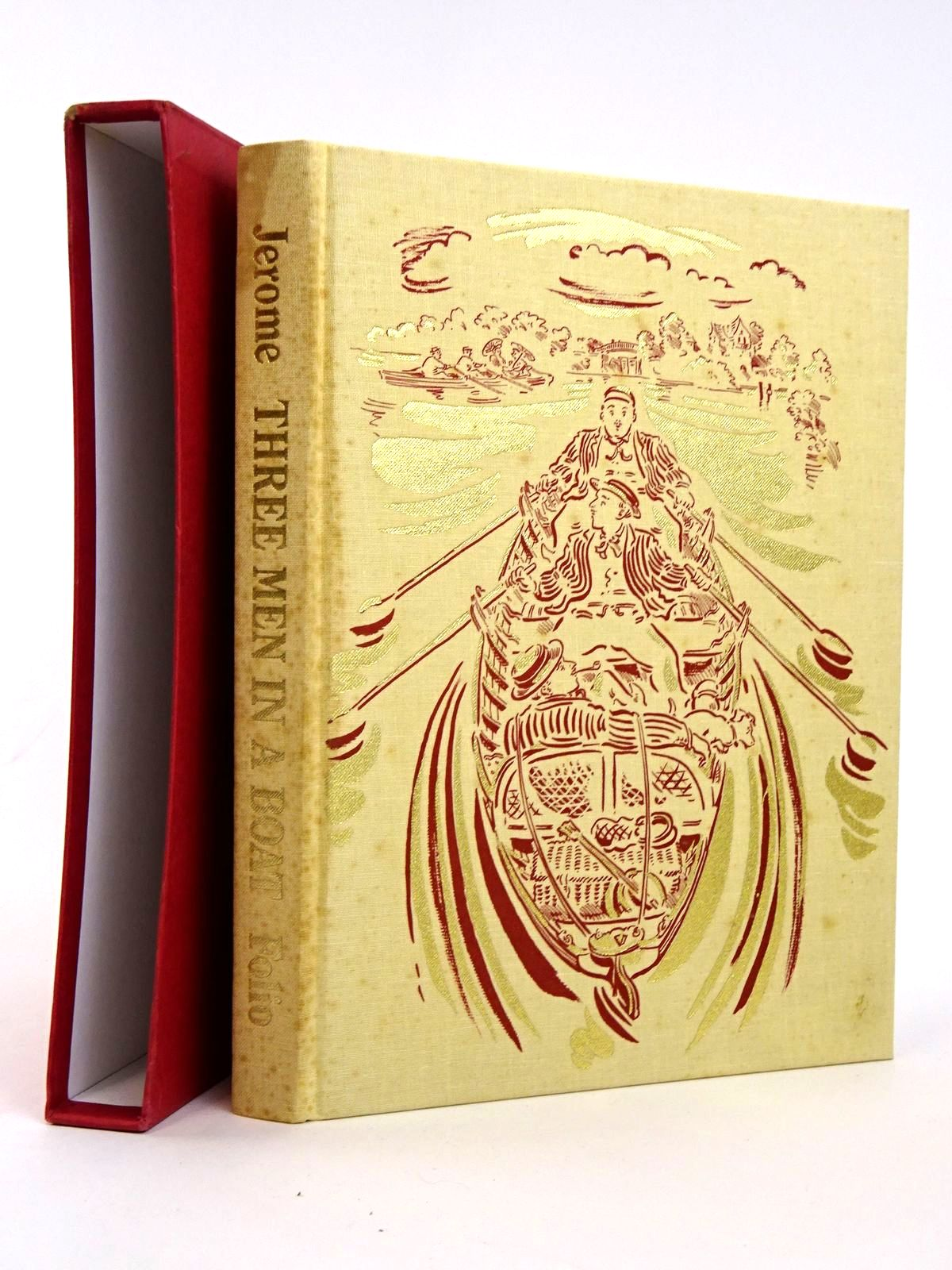 Photo of THREE MEN IN A BOAT written by Jerome, Jerome K. illustrated by Cox, Paul published by Folio Society (STOCK CODE: 1818303)  for sale by Stella & Rose's Books
