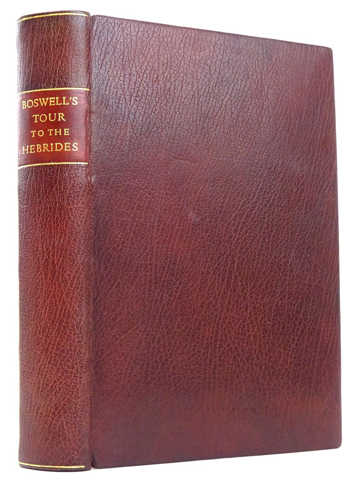 Photo of BOSWELL'S JOURNAL OF A TOUR TO THE HEBRIDES WITH SAMUEL JOHNSON written by Boswell, James published by William Heinemann Ltd. (STOCK CODE: 1818354)  for sale by Stella & Rose's Books