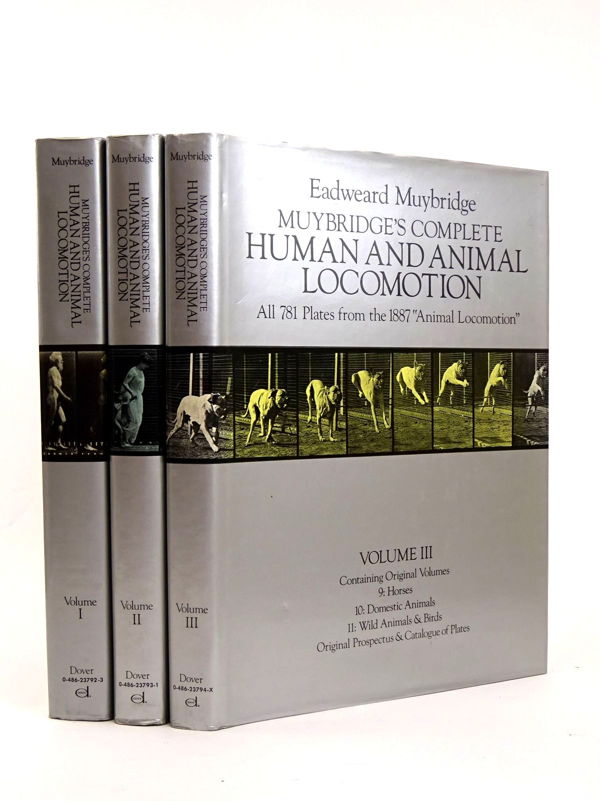 Photo of MUYBRIDGE'S COMPLETE HUMAN AND ANIMAL LOCOMOTION (THREE VOLUMES)- Stock Number: 1818358