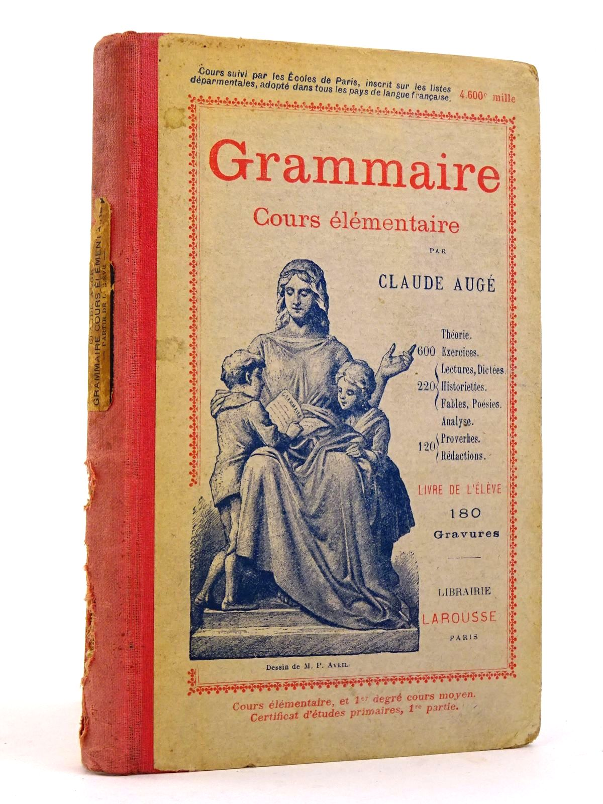 Photo of GRAMMAIRE COURS ELEMENTAIRE- Stock Number: 1818396