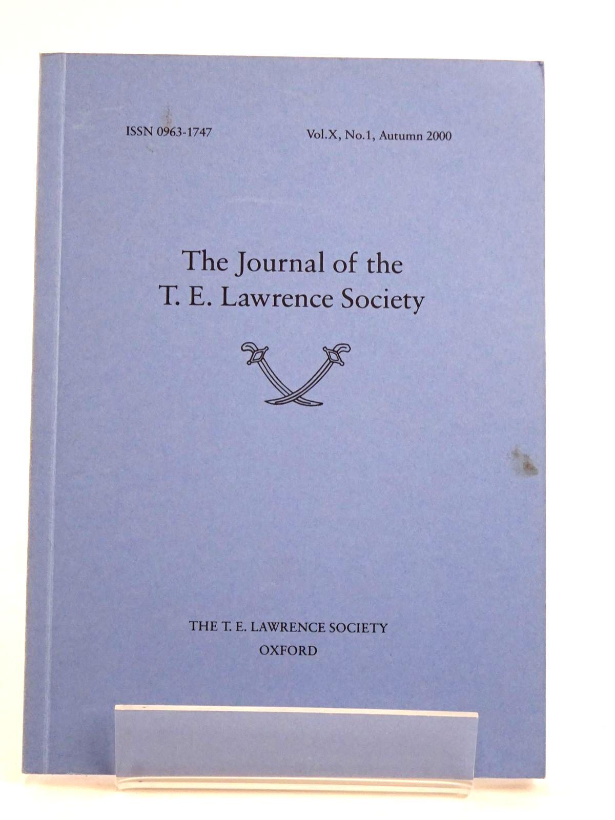 Photo of THE JOURNAL OF THE T.E. LAWRENCE SOCIETY VOL. X No. 1- Stock Number: 1818397