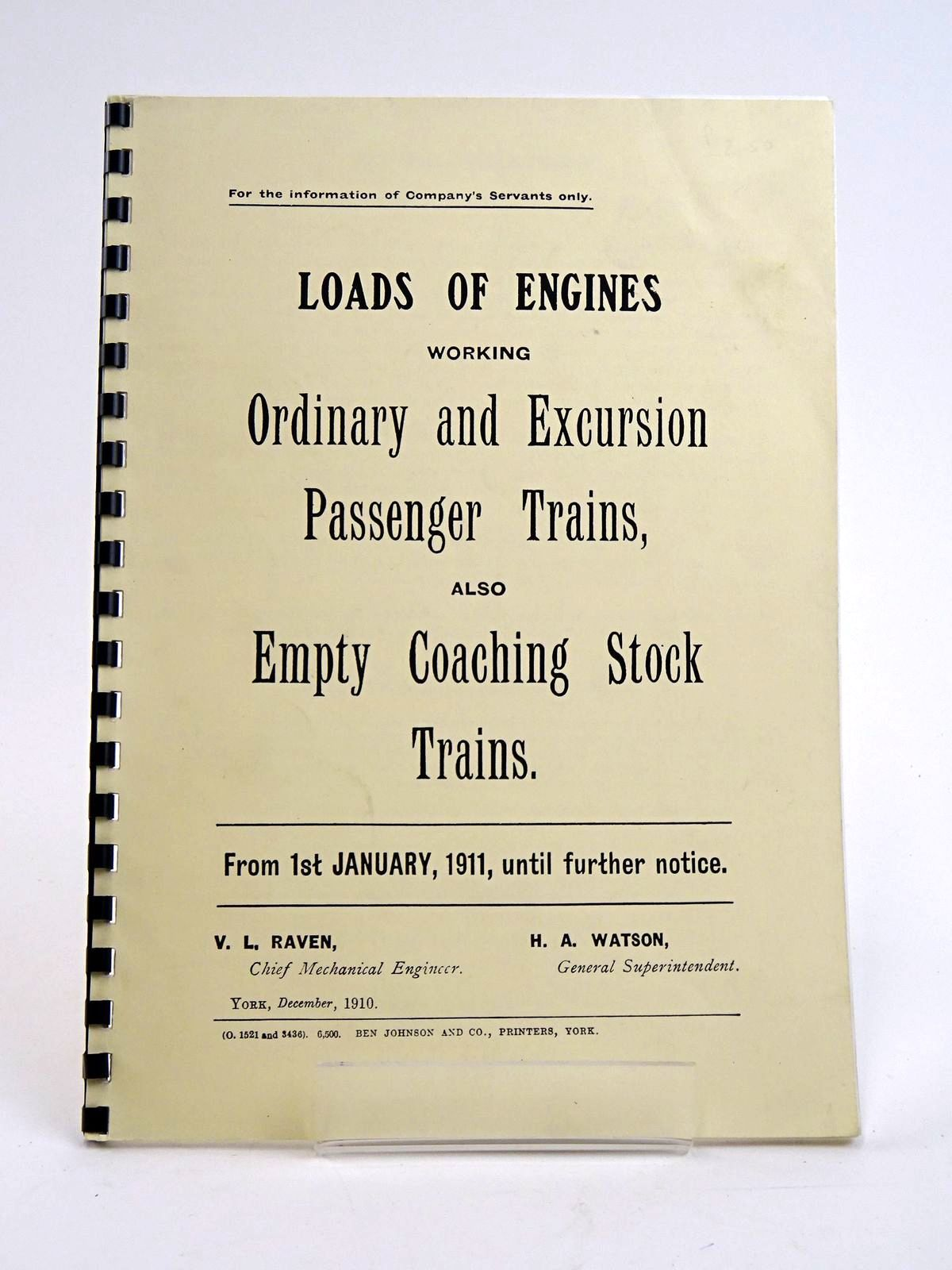 Photo of NORTH EASTERN RAILWAY: LOADS OF ENGINES WORKING PASSENGER TRAINS, 1911 published by The North Eastern Railway Association (STOCK CODE: 1818445)  for sale by Stella & Rose's Books