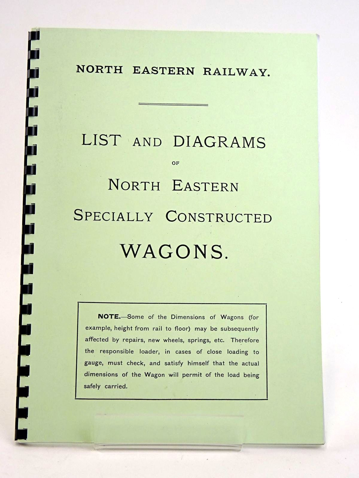 Photo of NORTH EASTERN RAILWAY: LIST AND DIAGRAMS OF NORTH EASTERN SPECIALLY CONSTRUCTED WAGONS- Stock Number: 1818452