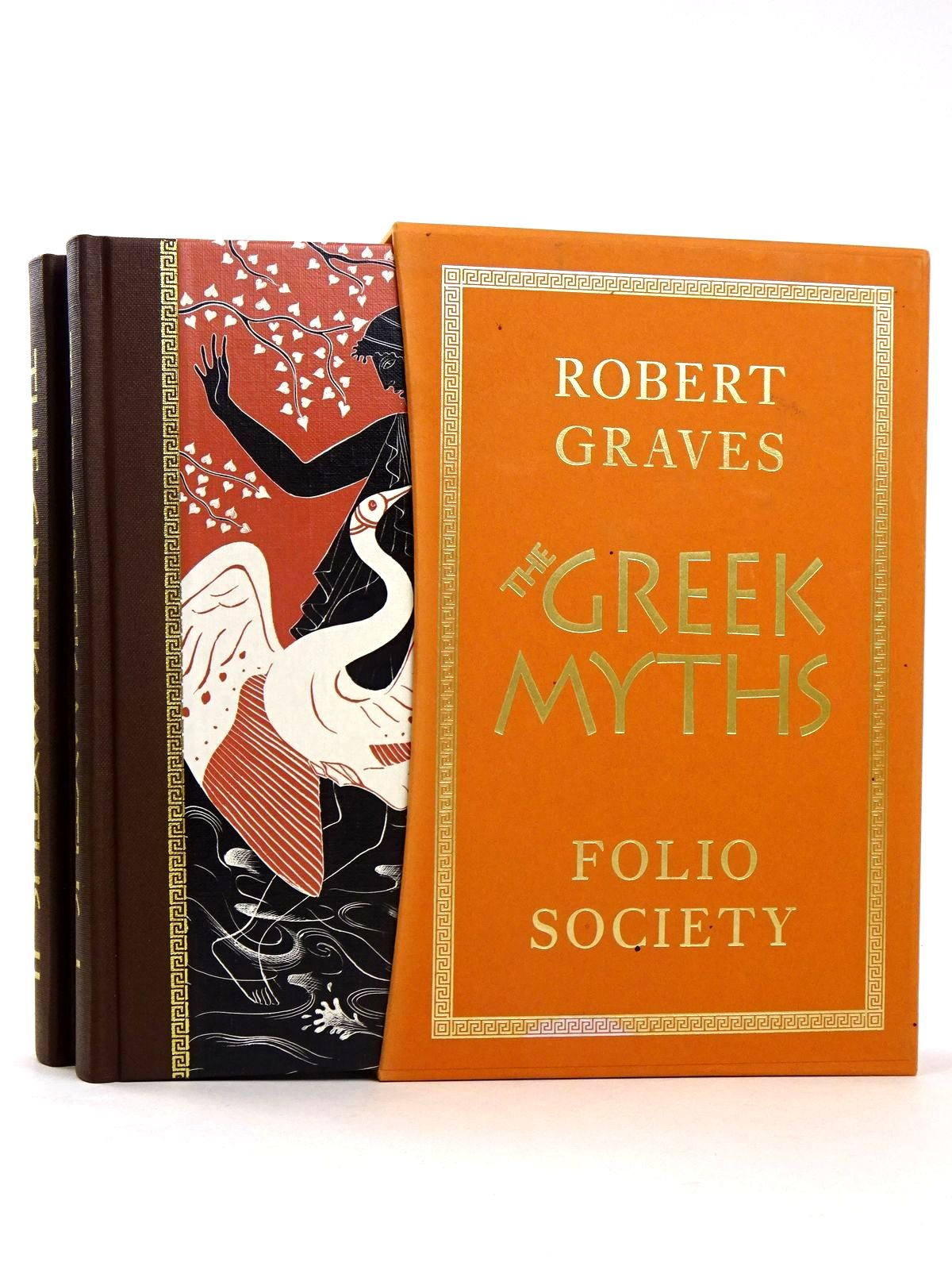 Photo of THE GREEK MYTHS (2 VOLUMES) written by Graves, Robert<br />Mcleish, Kenneth illustrated by Baker, Grahame published by Folio Society (STOCK CODE: 1818514)  for sale by Stella & Rose's Books