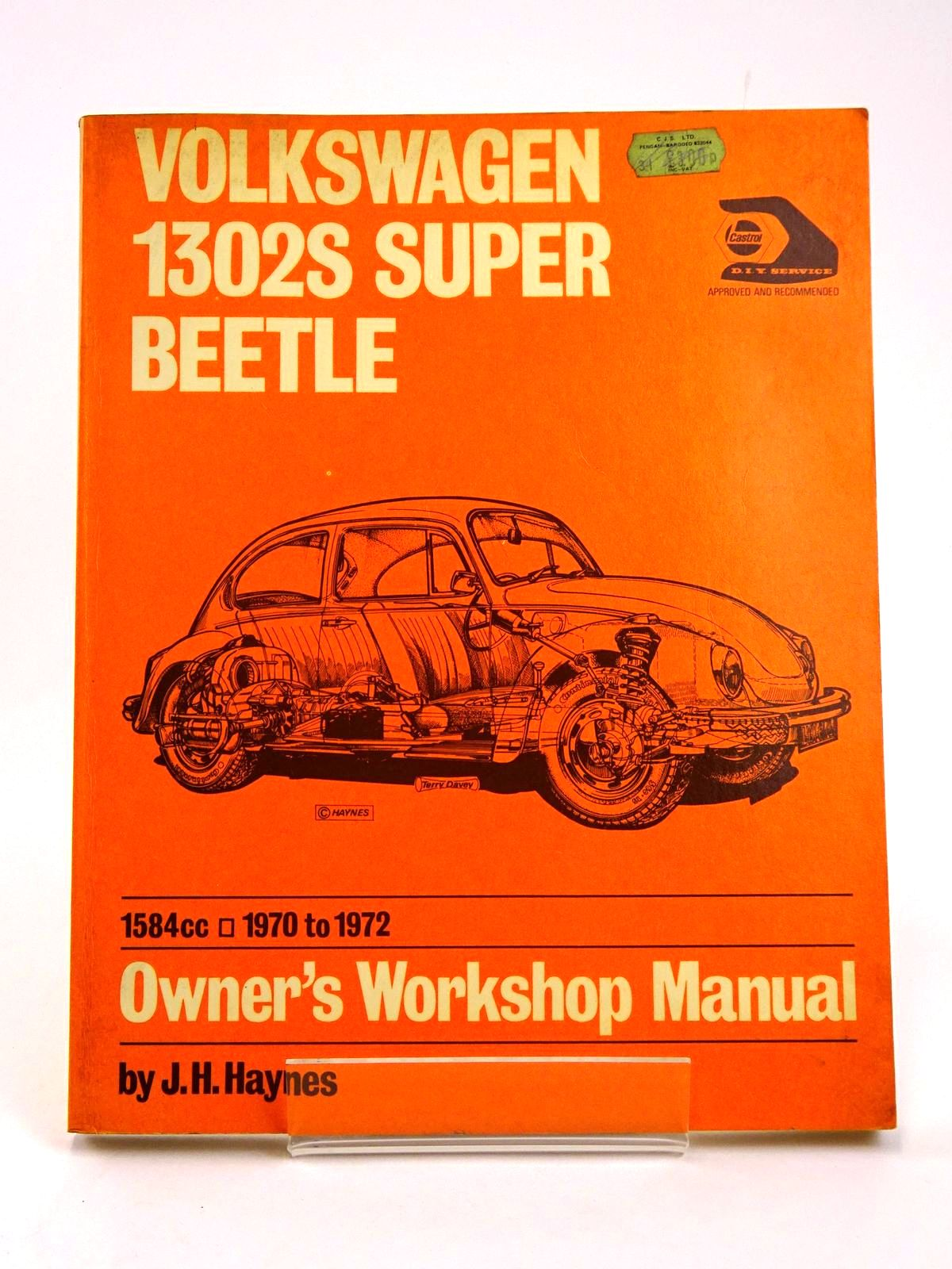 Photo of VOLKSWAGEN 1302S SUPER BEETLE OWNER'S WORKSHOP MANUAL written by Haynes, J.H.