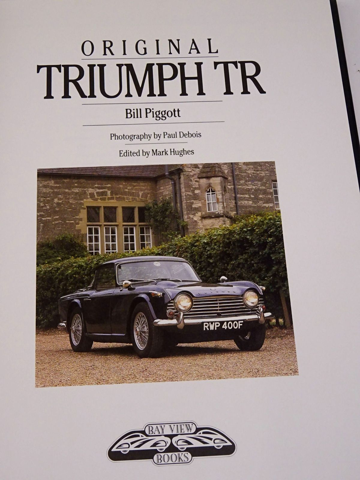 Photo of ORIGINAL TRIUMPH TR written by Piggott, Bill published by Bay View Books (STOCK CODE: 1818574)  for sale by Stella & Rose's Books