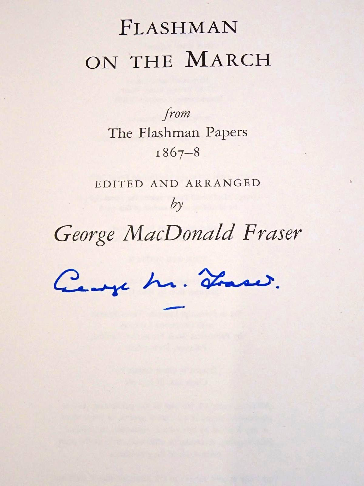 Photo of FLASHMAN ON THE MARCH written by Fraser, George Macdonald published by Harpercollins Publishers Ltd (STOCK CODE: 1818666)  for sale by Stella & Rose's Books