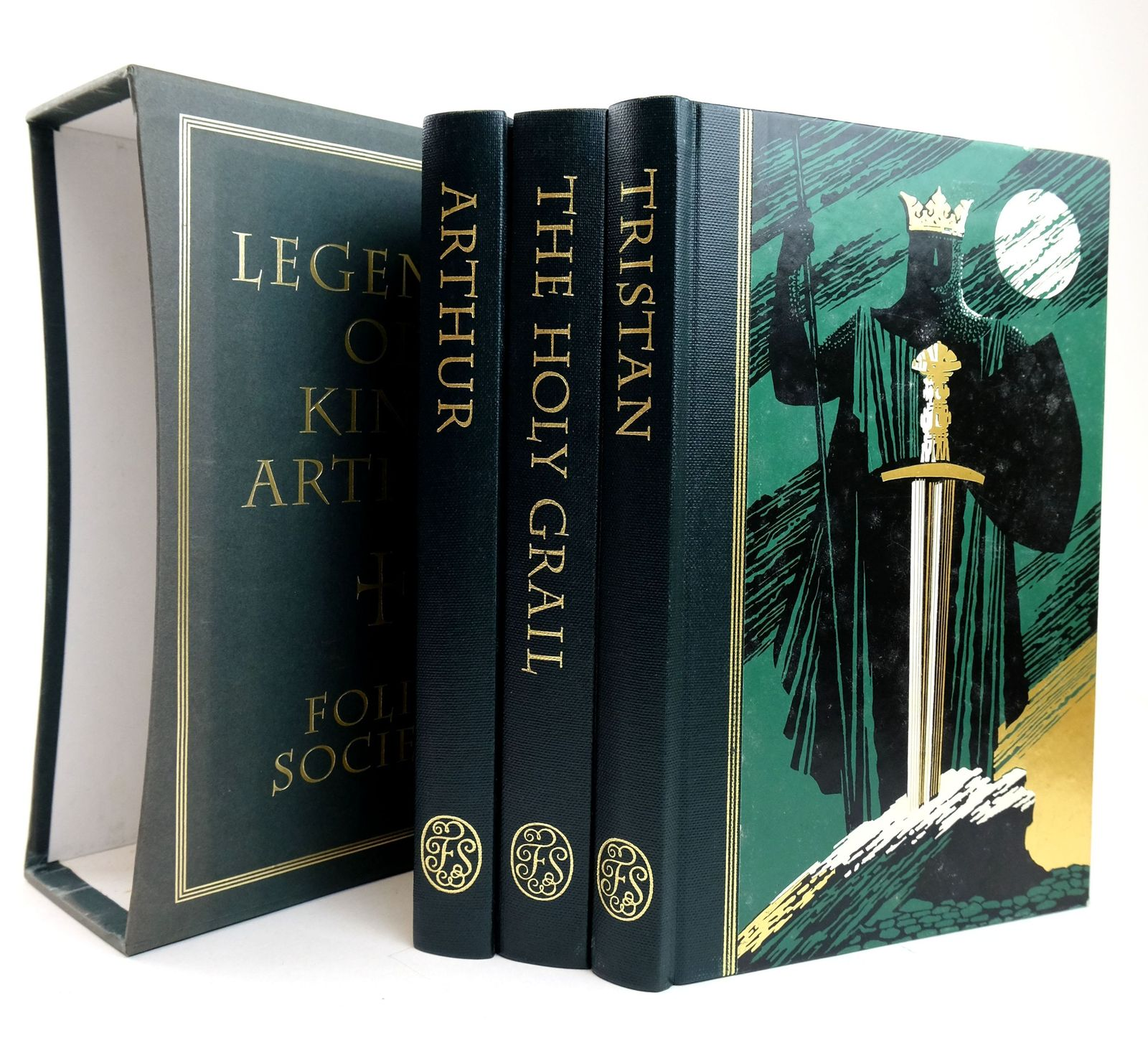 Photo of LEGENDS OF KING ARTHUR (3 VOLUME SET) written by Barber, Richard illustrated by Pisarev, Roman published by Folio Society (STOCK CODE: 1819078)  for sale by Stella & Rose's Books